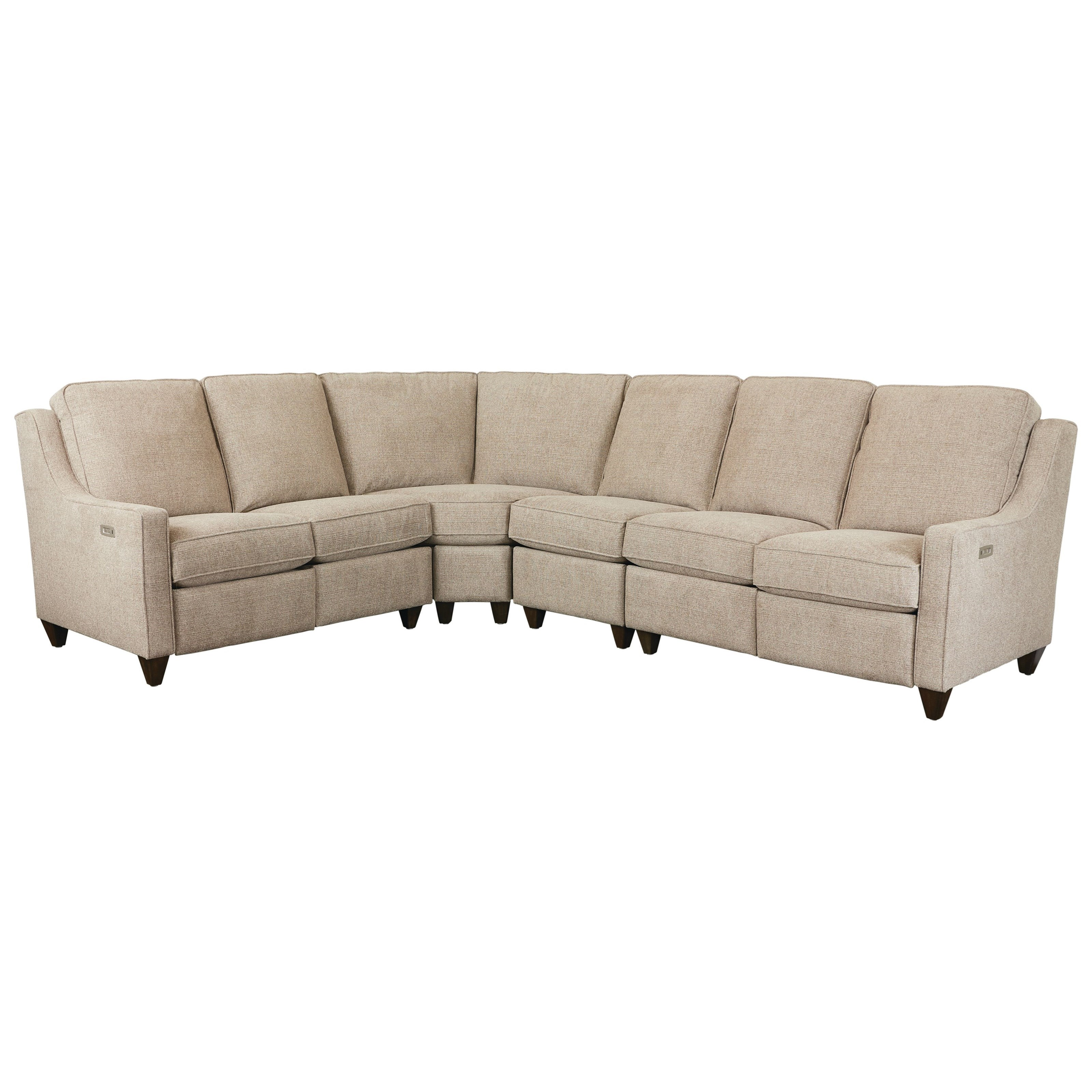 Magnificent Motion Customizable 4-Pc Power Reclining Sectional by Bassett at Suburban Furniture