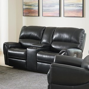 Motion Loveseat with Power and Console