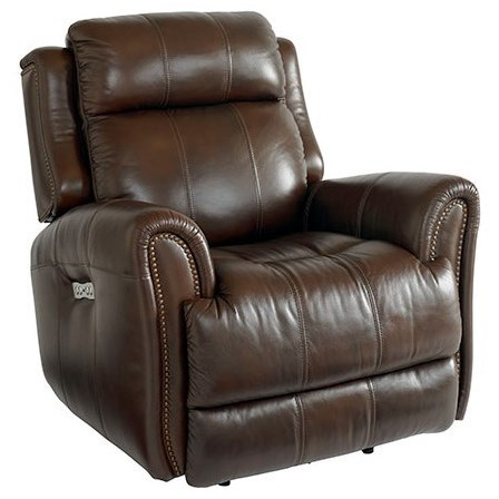 Marquee Power Recliner with Extended Footrest by Bassett at Darvin Furniture