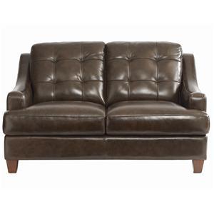 Bassett Mercer Leather Love Seat