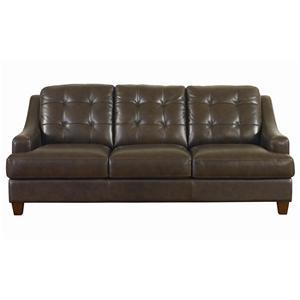 Bassett Mercer Leather Sofa