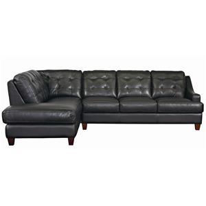 Bassett Mercer Leather Sectional
