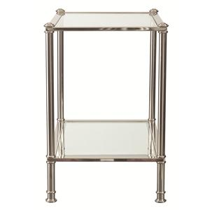 Chairside Table with Glass Shelf
