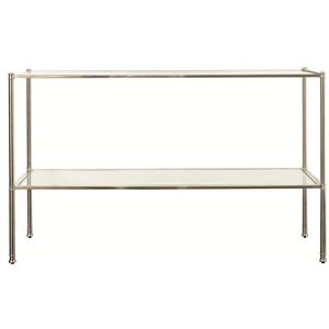 Sofa Table with Glass Inserts