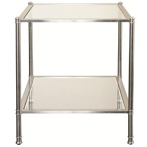 End Table with Glass Panels