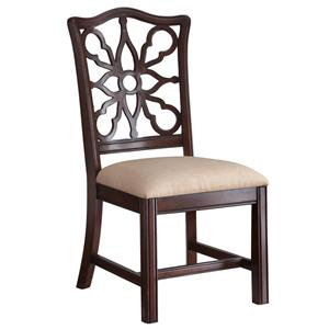Bassett Moultrie Park Pierced Back Side Chair