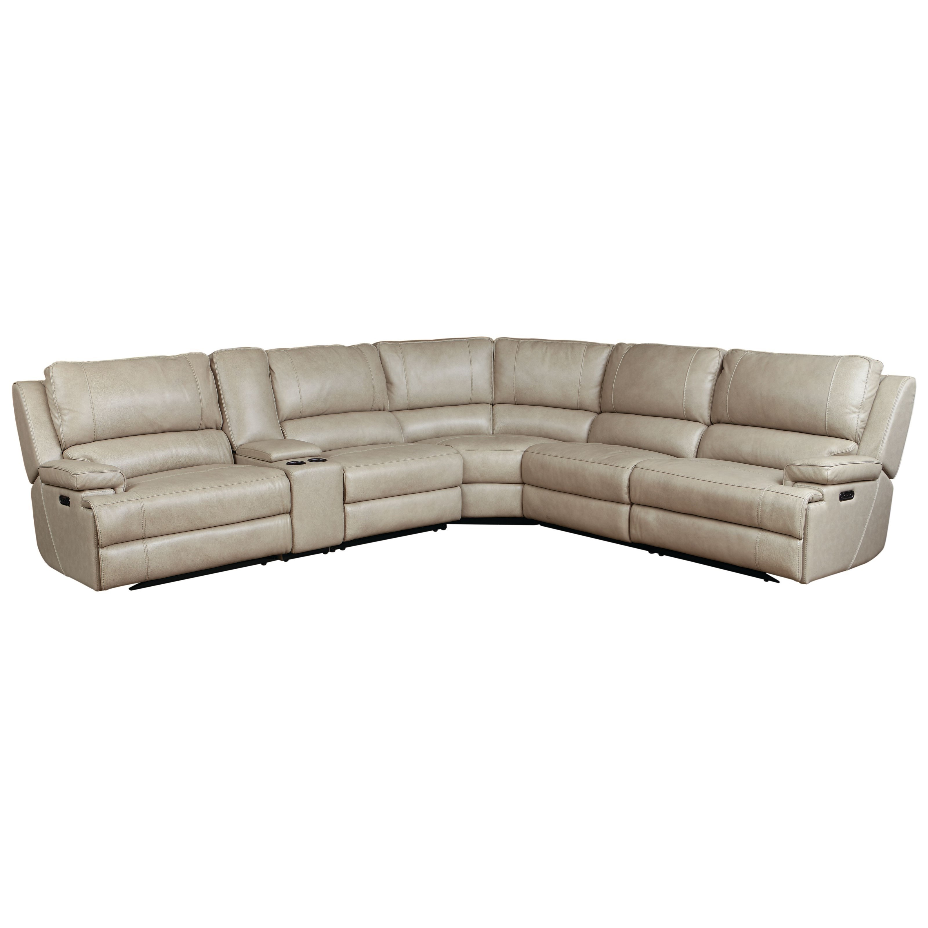 Parsons Club Level  Power Reclining Sectional by Bassett at Bassett of Cool Springs