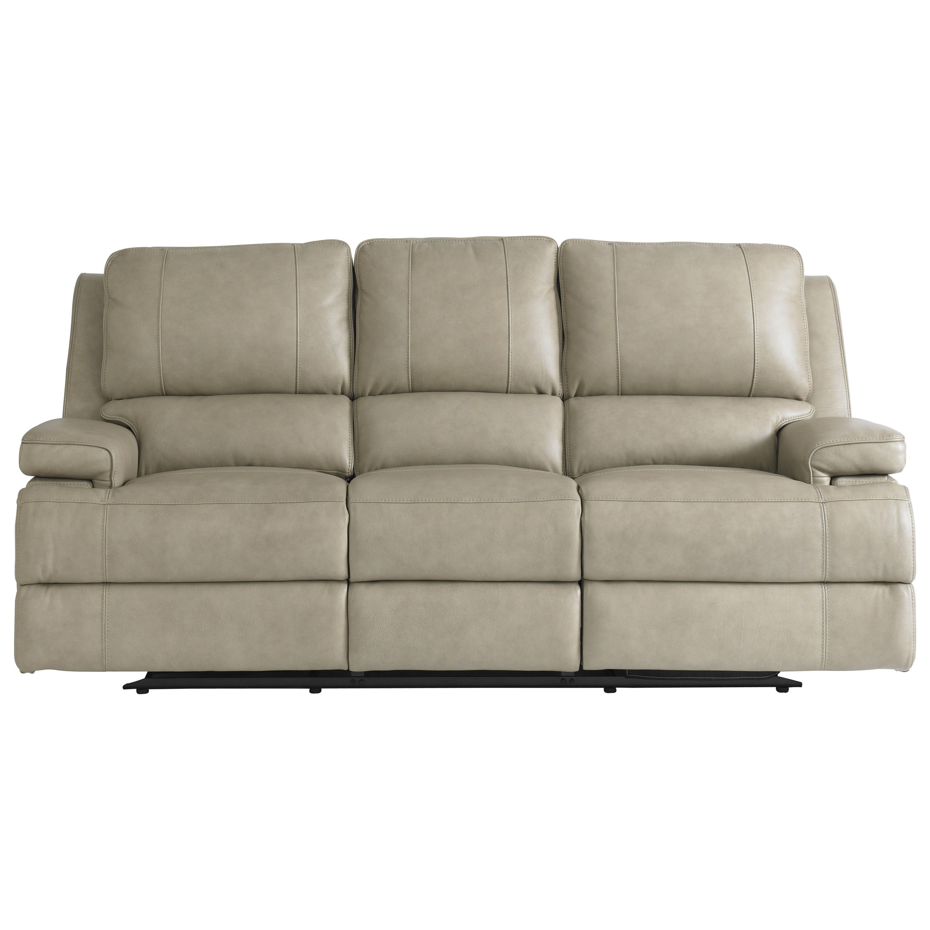Parsons Club Level  Reclining Sofa with Power Headrests by Bassett at Bassett of Cool Springs