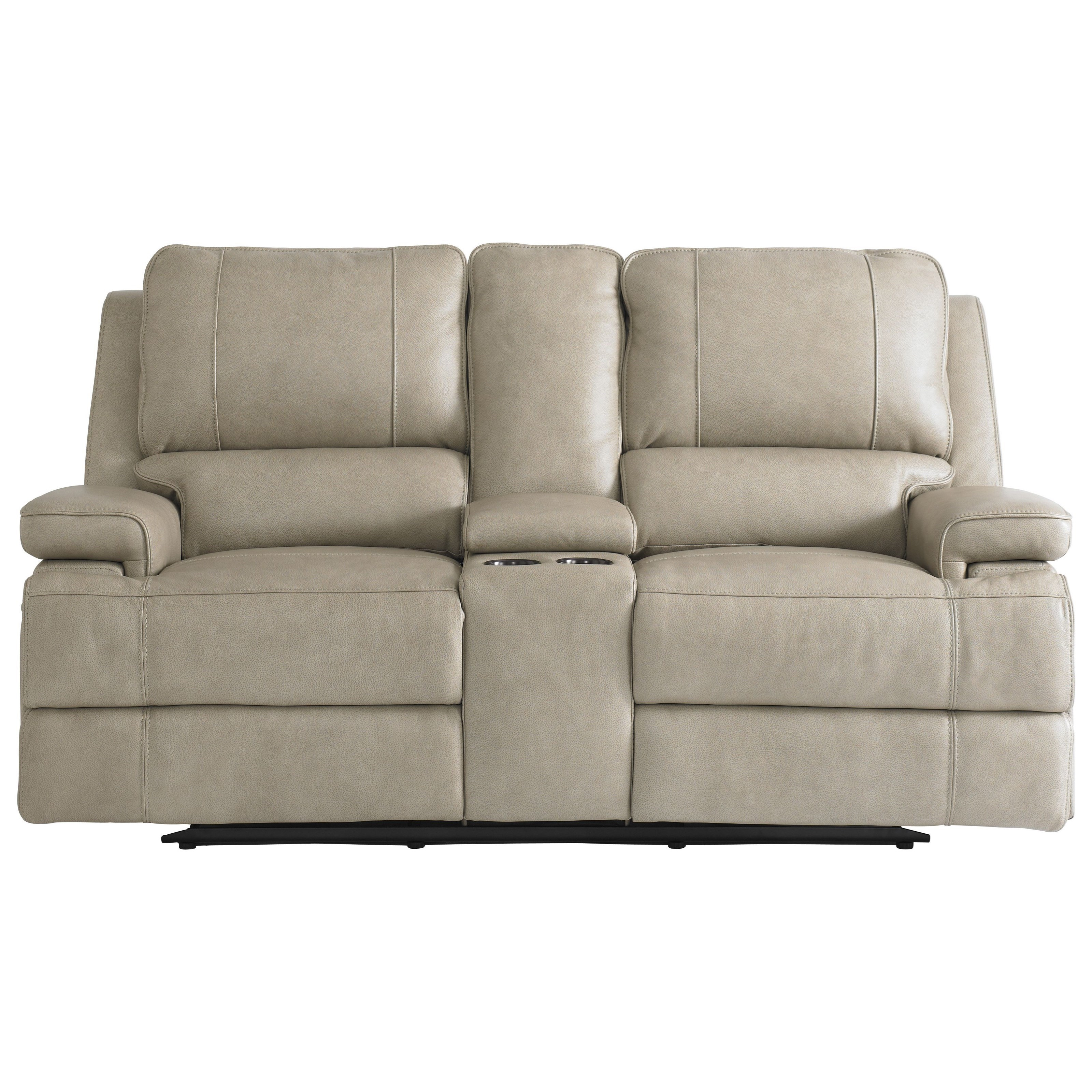Parsons Club Level  Double Reclining Loveseat w/ Power Headrests by Bassett at Darvin Furniture