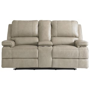 Double Reclining Console Loveseat with Power Headrests