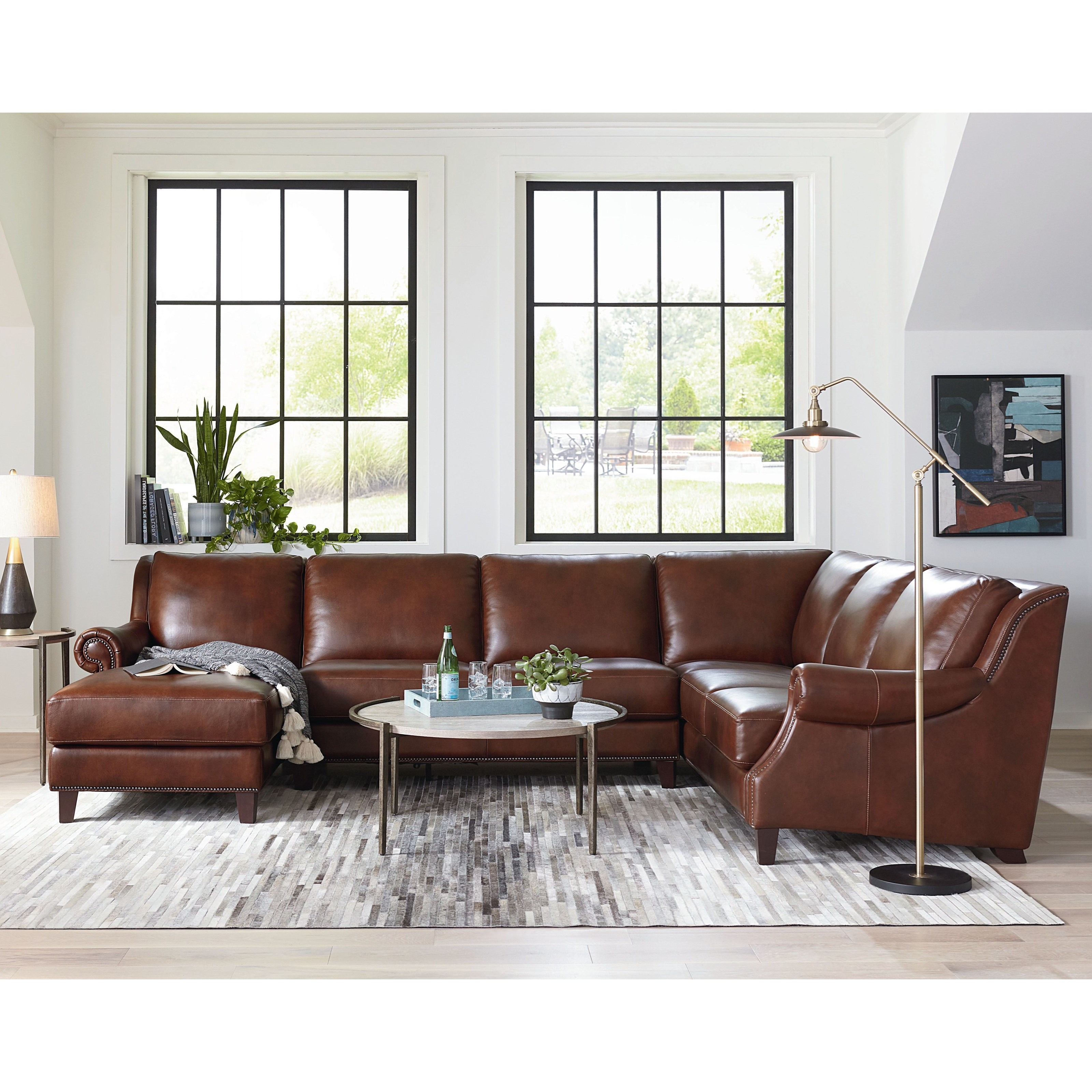 Pierce Sectional with Left-Facing Chaise by Bassett at Bassett of Cool Springs