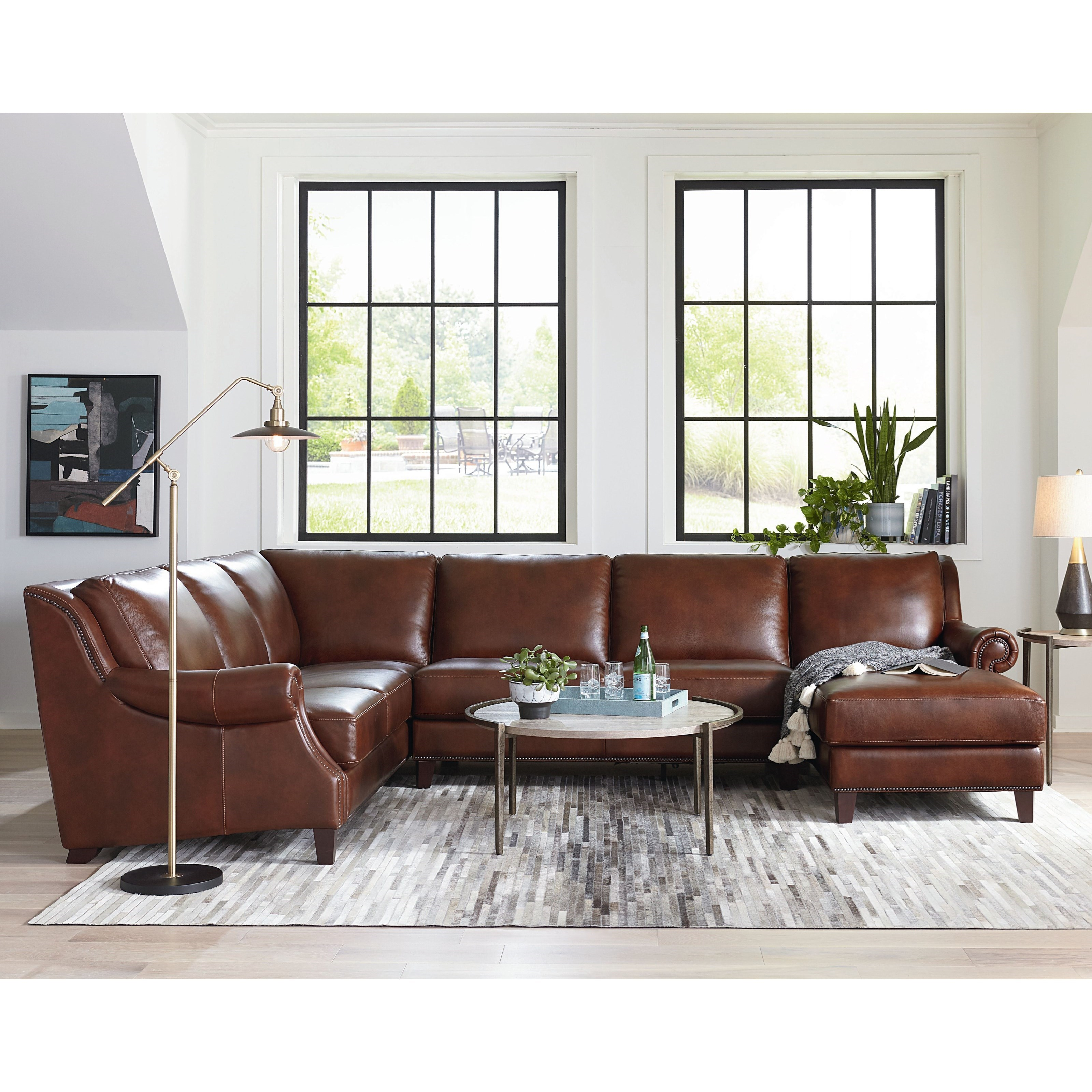 Pierce Sectional with Right-Facing Chaise by Bassett at Bassett of Cool Springs