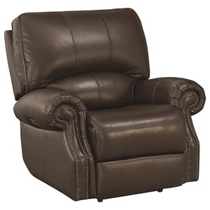 Transitional Wallsaver Recliner with USB Charging