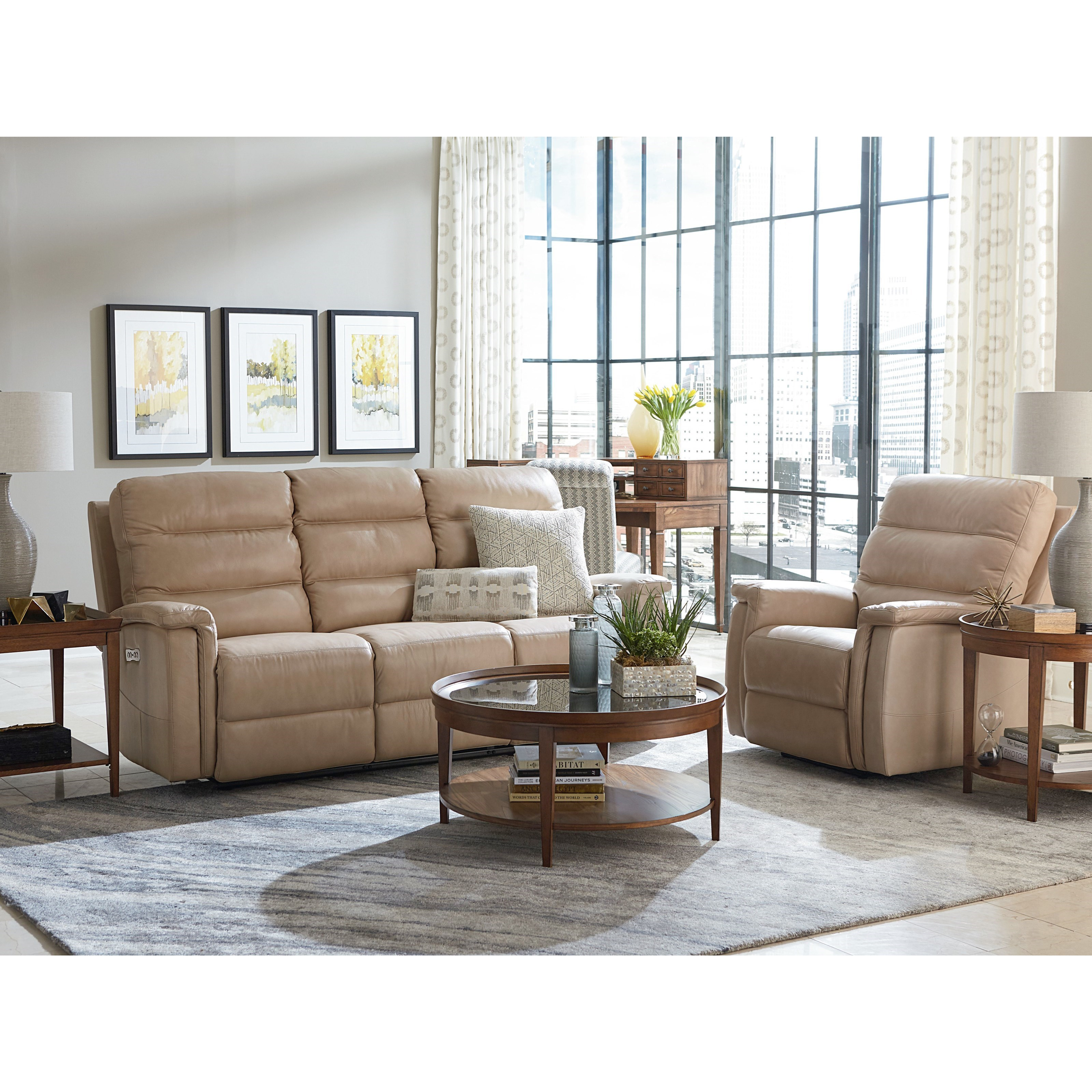 Regency - Club Level Reclining Living Room Group by Bassett at Esprit Decor Home Furnishings
