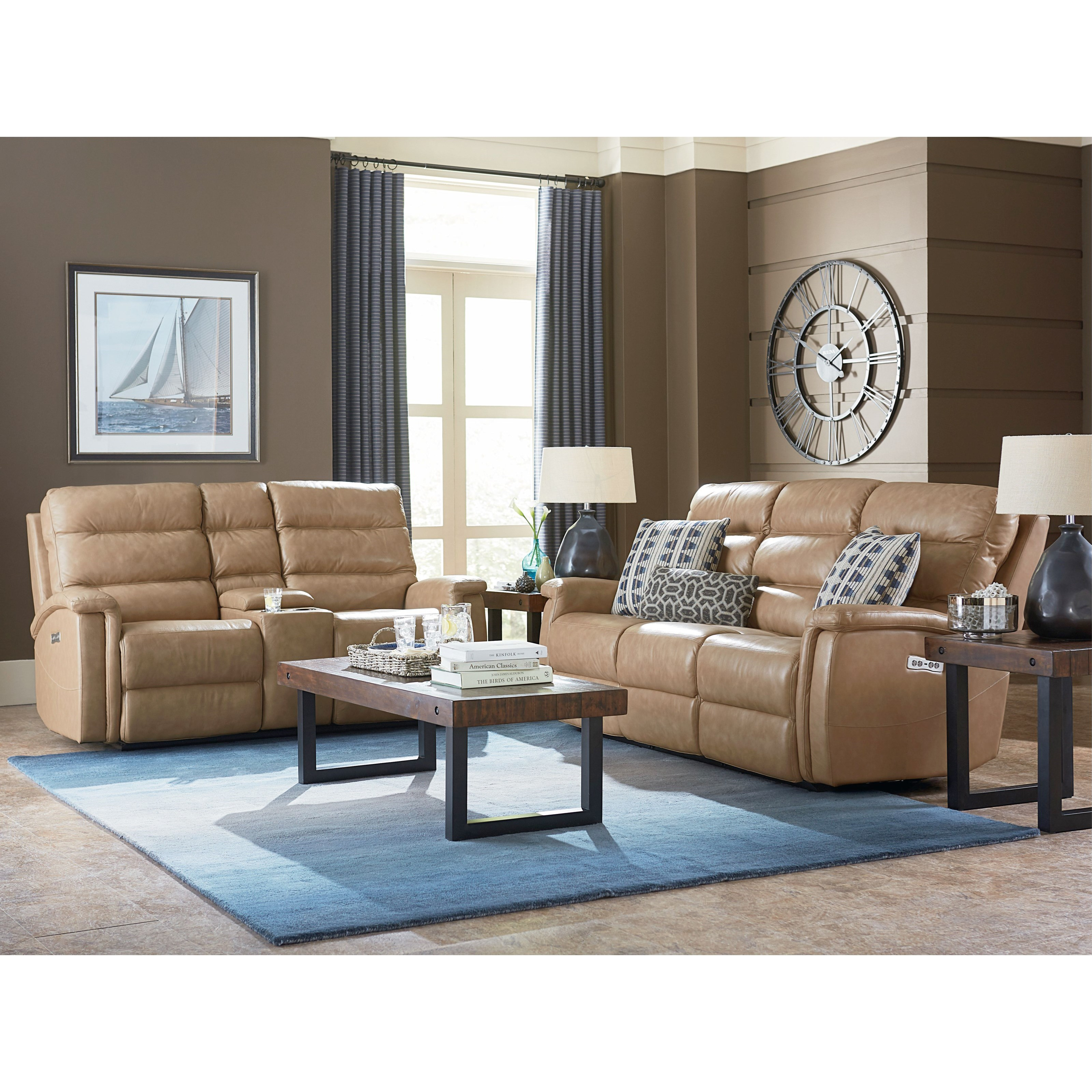 Regency - Club Level Reclining Living Room Group by Bassett at Williams & Kay