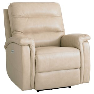 Leather Match Power Motion Recliner with Power Adjustable Headrest