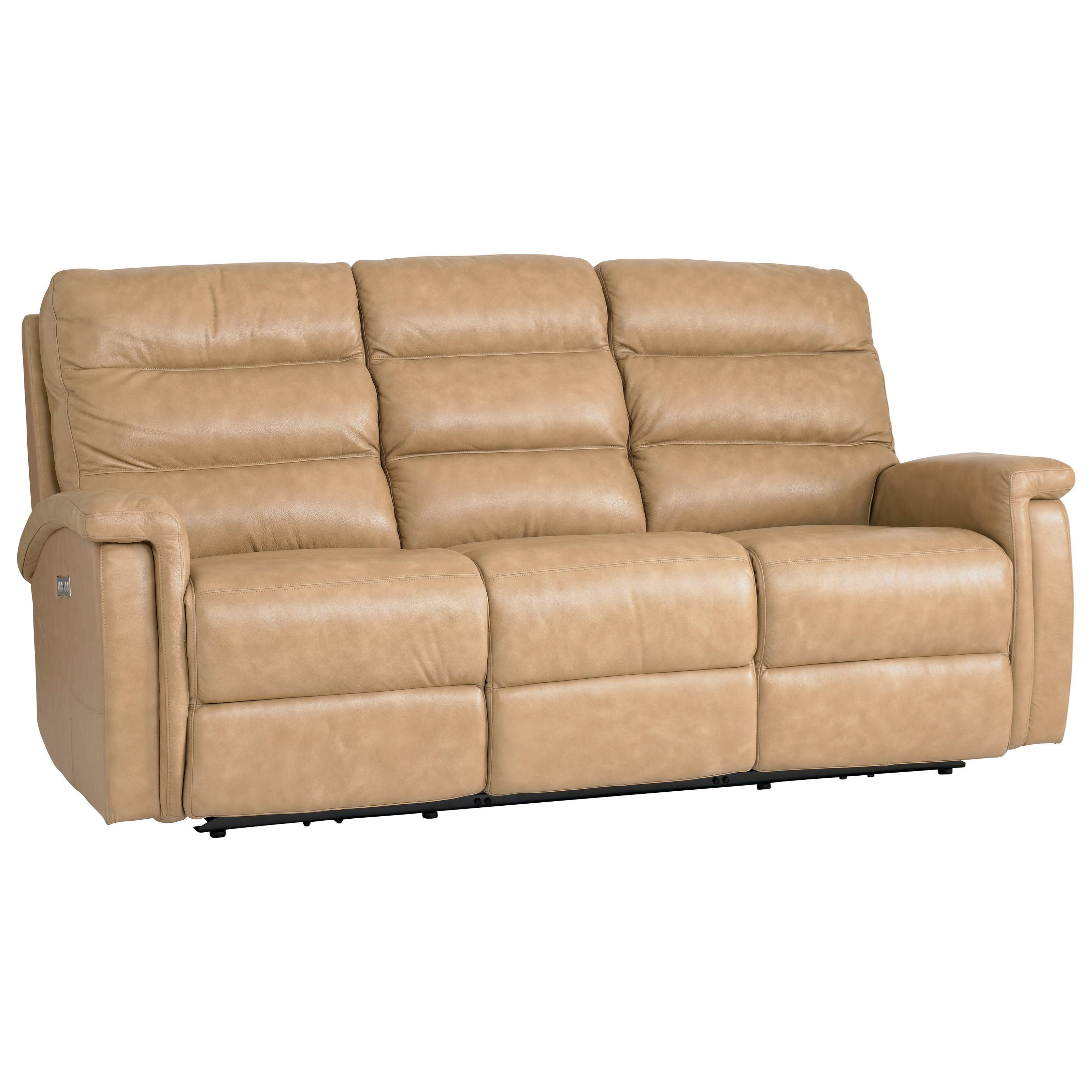 Regency - Club Level Motion Sofa with Power Adjustable Headrests by Bassett at Bassett of Cool Springs