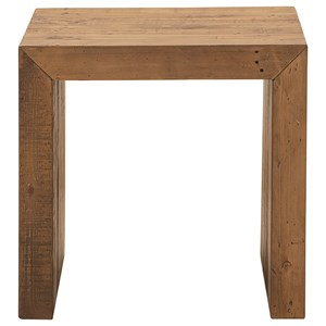 Square End Table from Reclaimed Wood