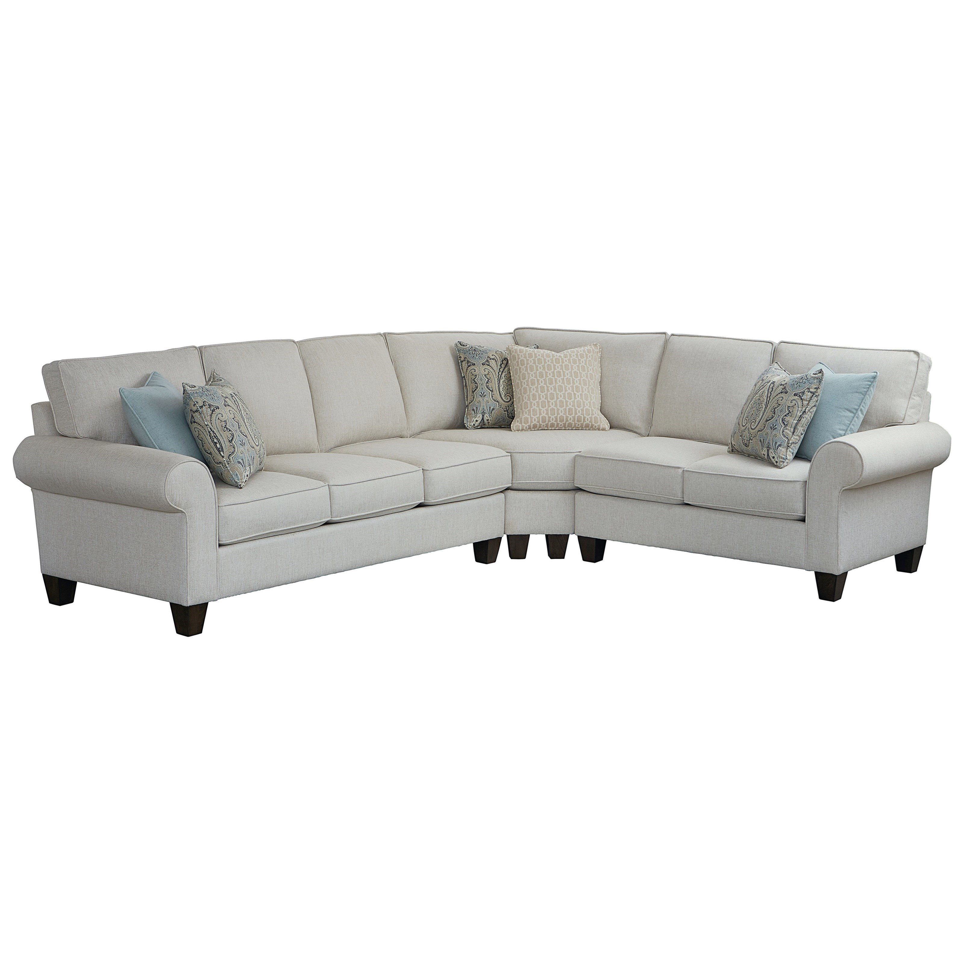 Sanderson 5-Seat Sectional Sofa w/ LAF Sofa by Bassett at Bassett of Cool Springs