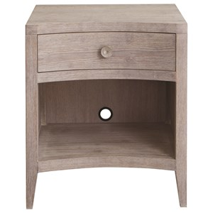 Transitional Bedside Table with Outlet and USB Ports