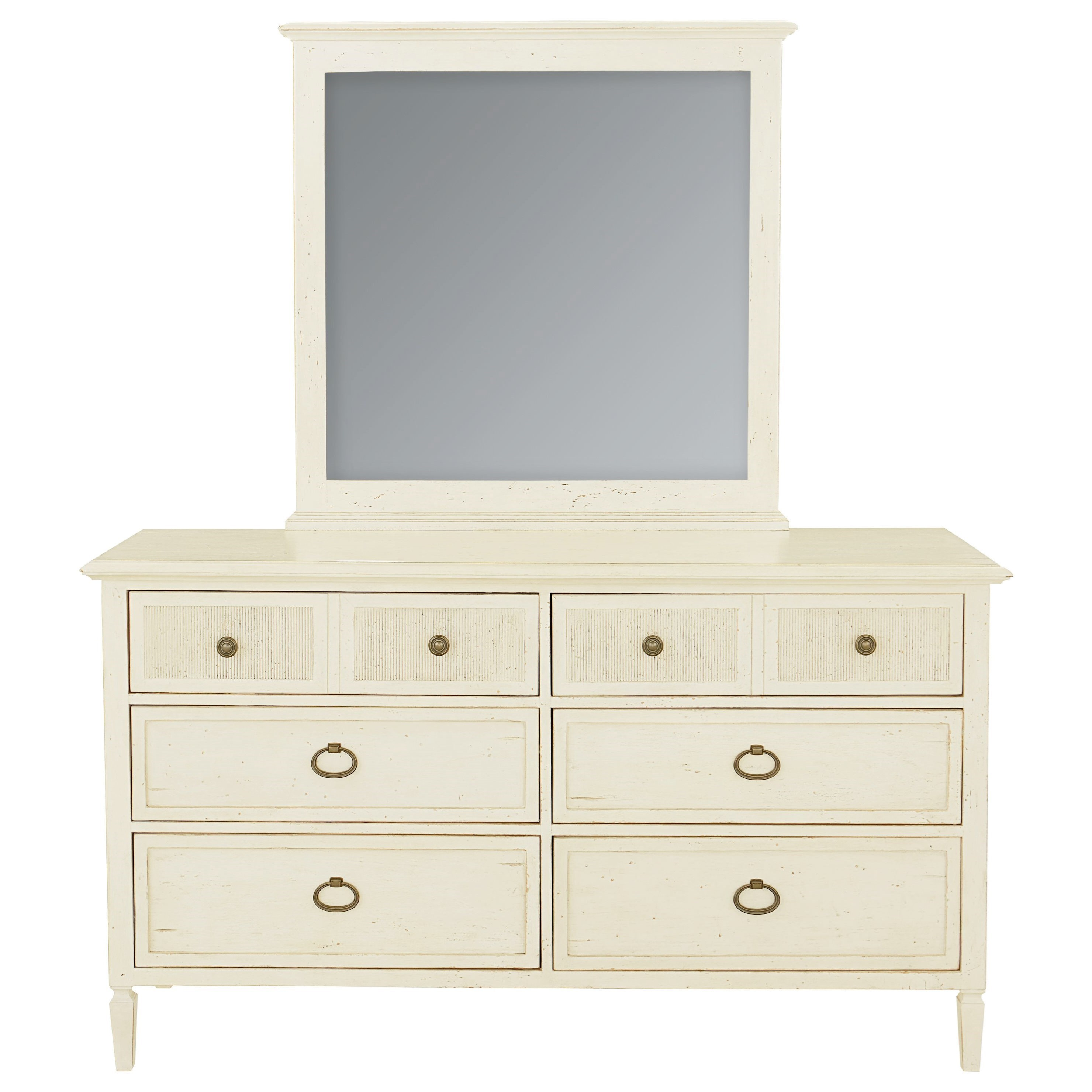 Shoreline Dresser and Mirror Set by Bassett at Suburban Furniture