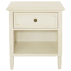 Coastal Bedside Table with Outlet and USB Ports