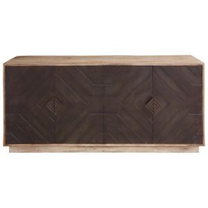 Geo 2-Tone Cabinet with 4 Wood Doors