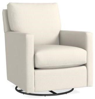Trent Swivel Glider Chair by Bassett at Johnny Janosik