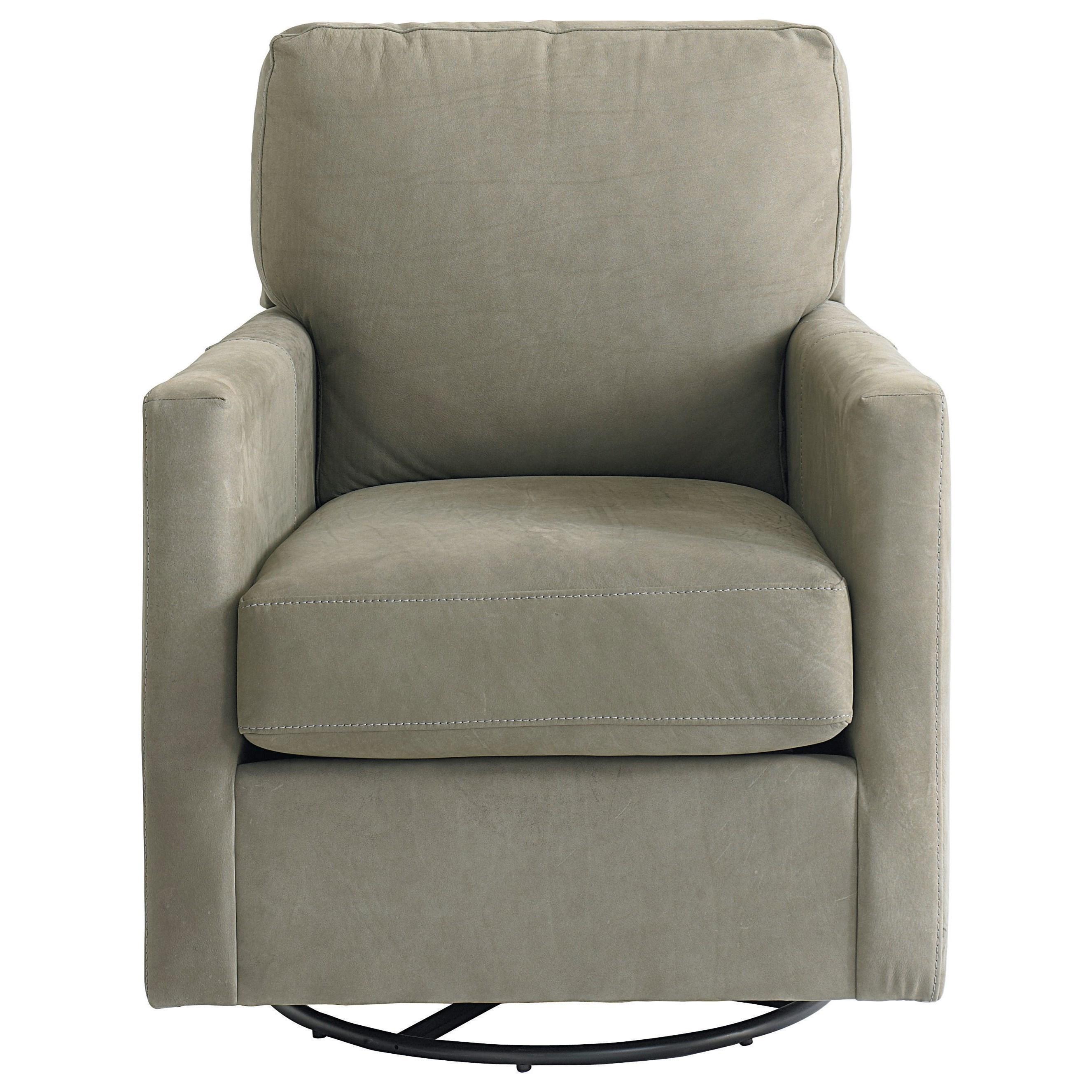 Trent Swivel Glider Chair by Bassett at Bassett of Cool Springs
