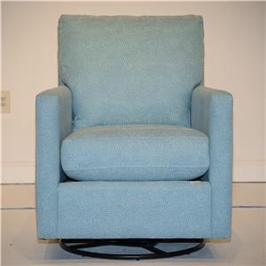 Contemporary Swivel Glider Chair with Track Arms