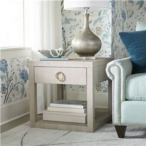 Sand Grey Raffia End/Bedside Table