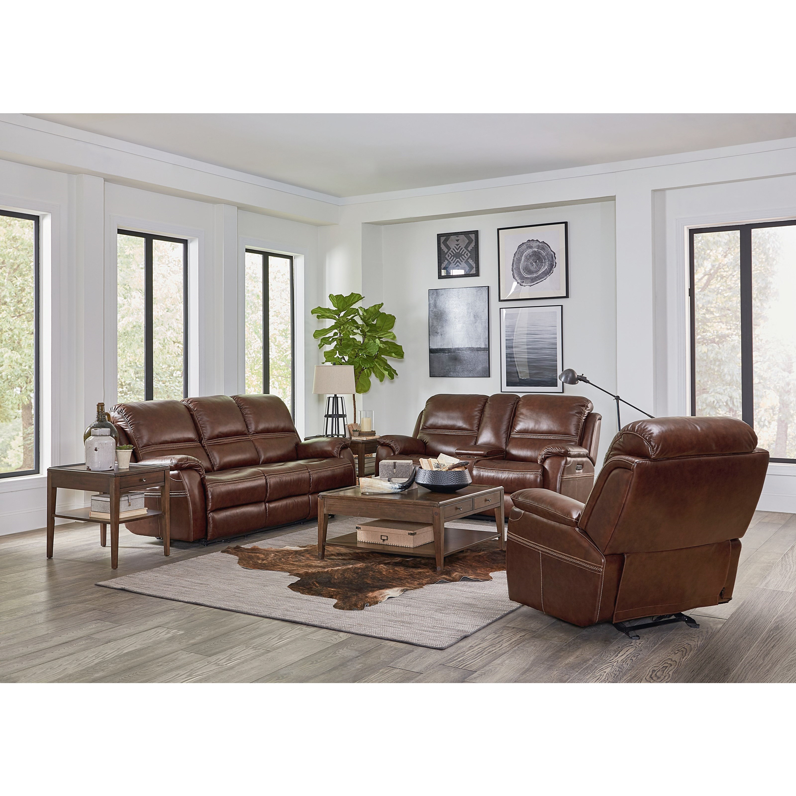 Williams - Club Level by Bassett Power Reclining Living Room Group by Bassett at Wilcox Furniture