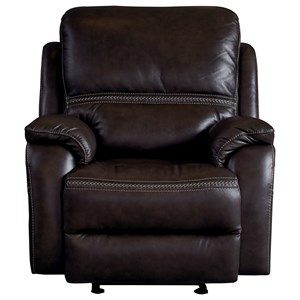 Contemporary Power Glider Recliner with Power Headrest