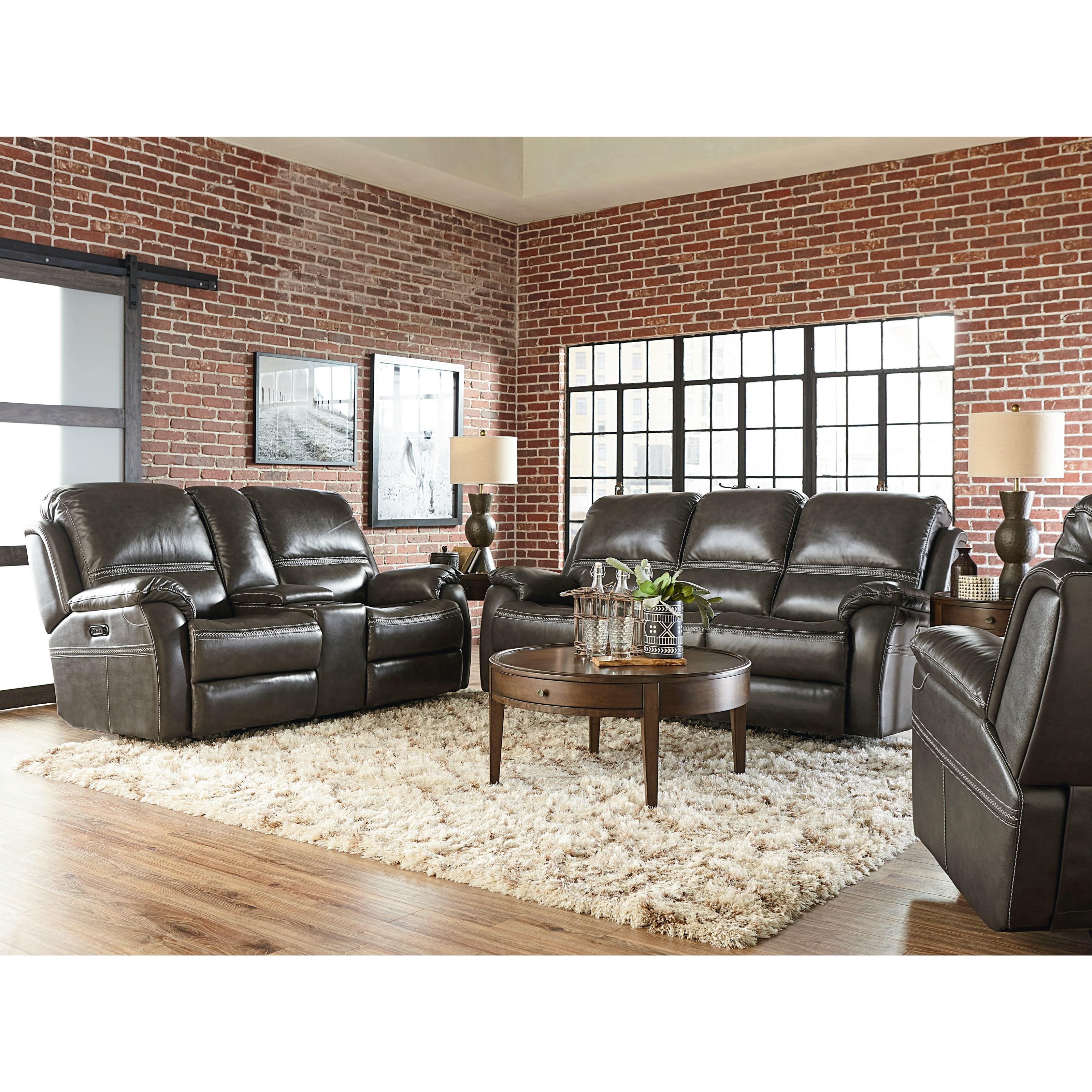 Williams - Club Level by Bassett Power Reclining Living Room Group by Bassett at Bassett of Cool Springs