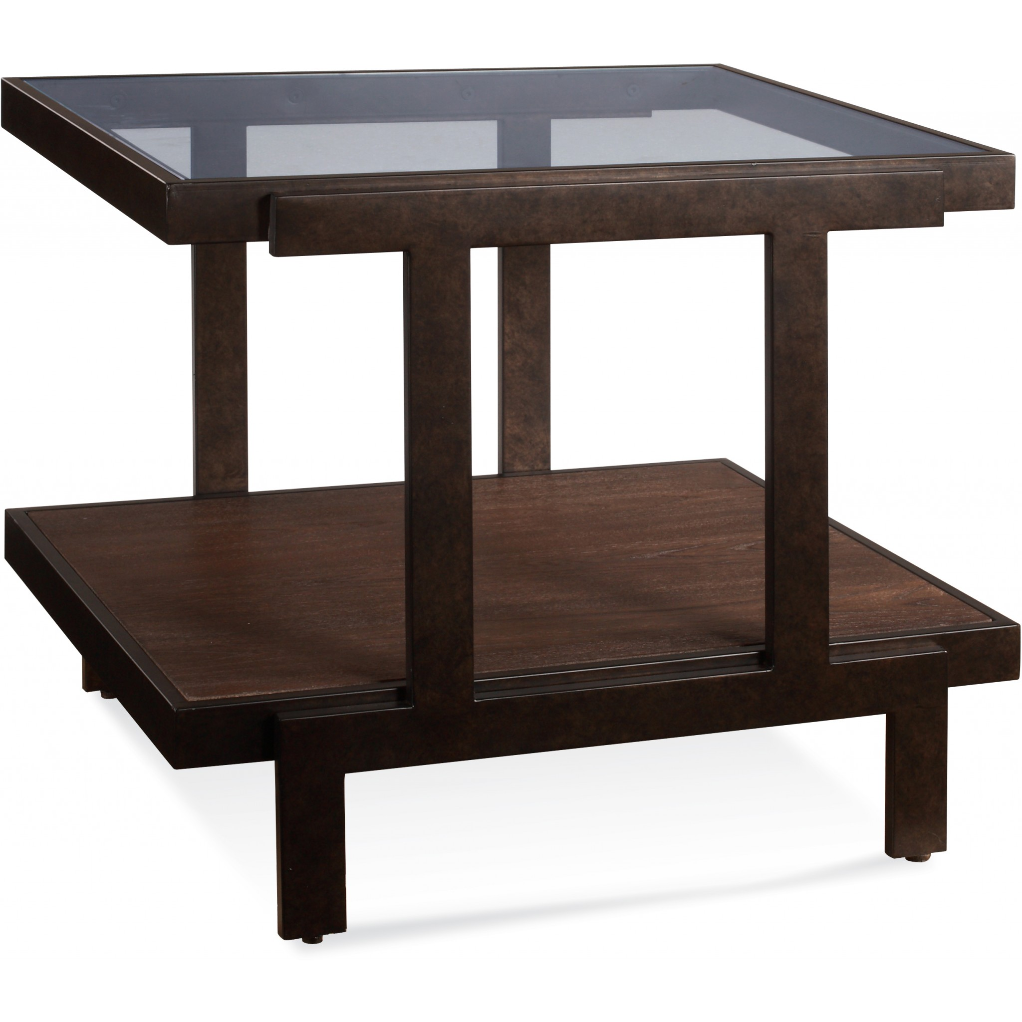 Beasley Rectangle End Table by Bassett Mirror at Alison Craig Home Furnishings