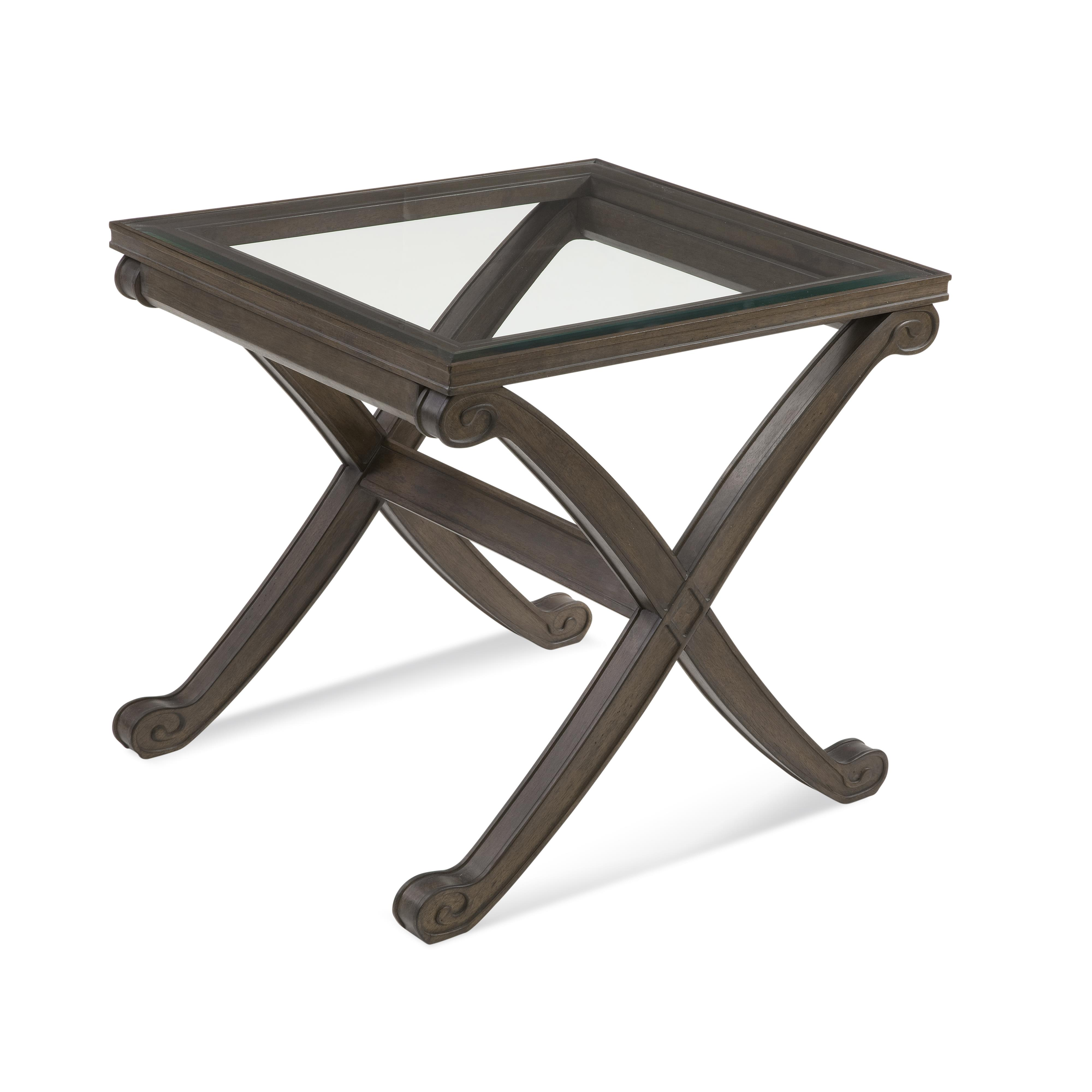 Belgian Luxe Wellington II Rectangle End Table by Bassett Mirror at Nassau Furniture and Mattress