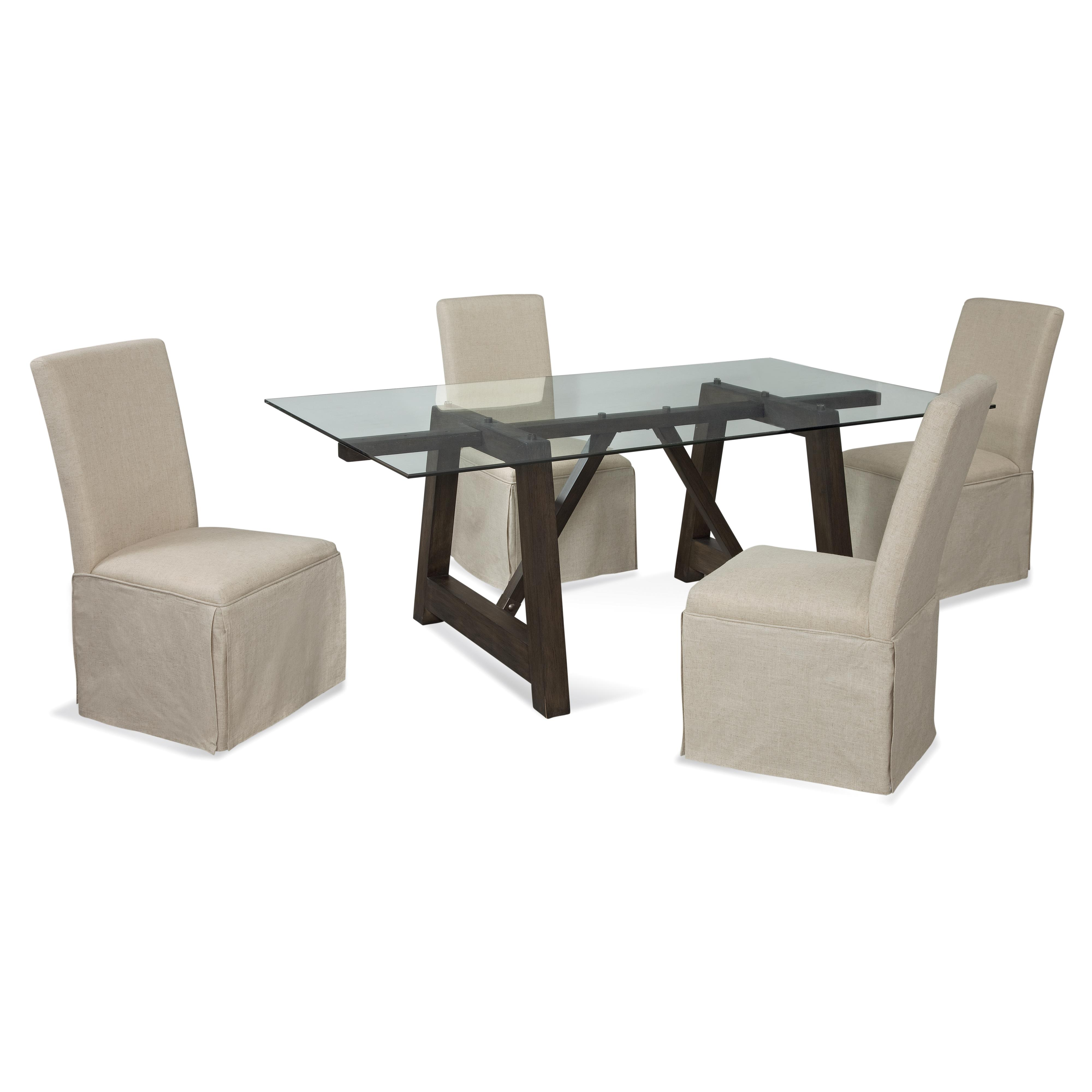 Belgian Luxe Ellsworth Casual Dining Set by Bassett Mirror at Alison Craig Home Furnishings