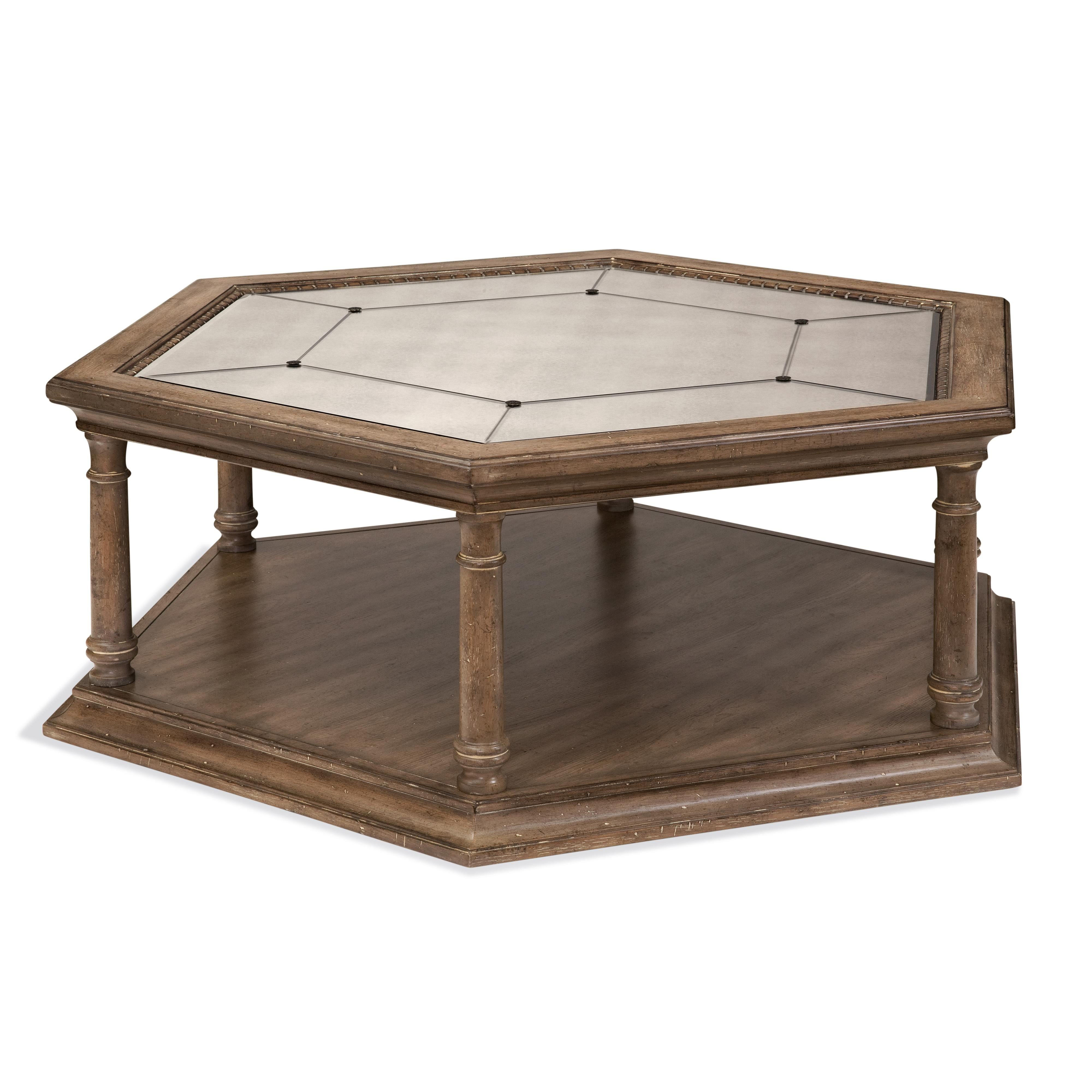Belgian Luxe Galliano Octagon Cocktail Table by Bassett Mirror at Alison Craig Home Furnishings
