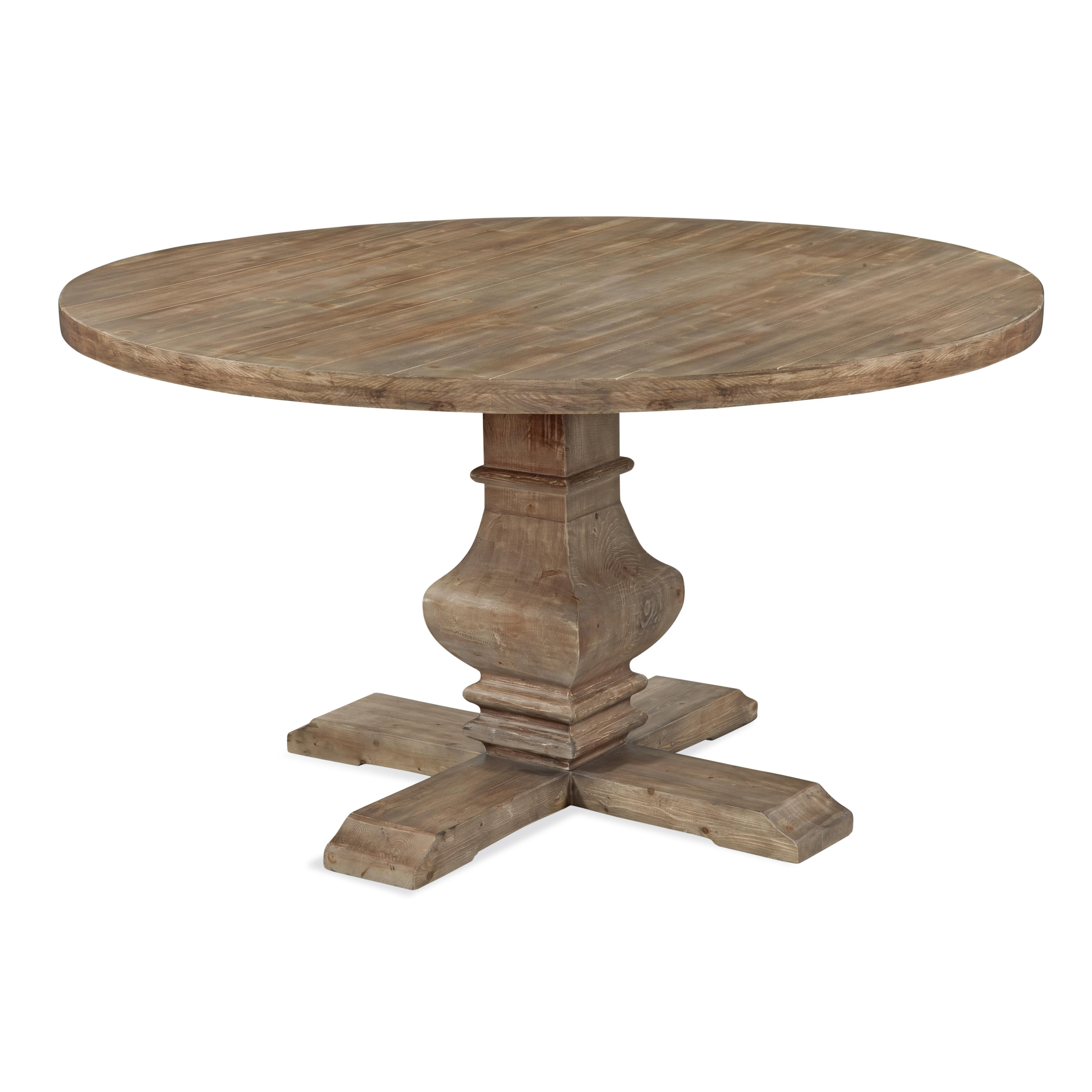 Belgian Luxe Kinzie Round Dining Table by Bassett Mirror at Jacksonville Furniture Mart