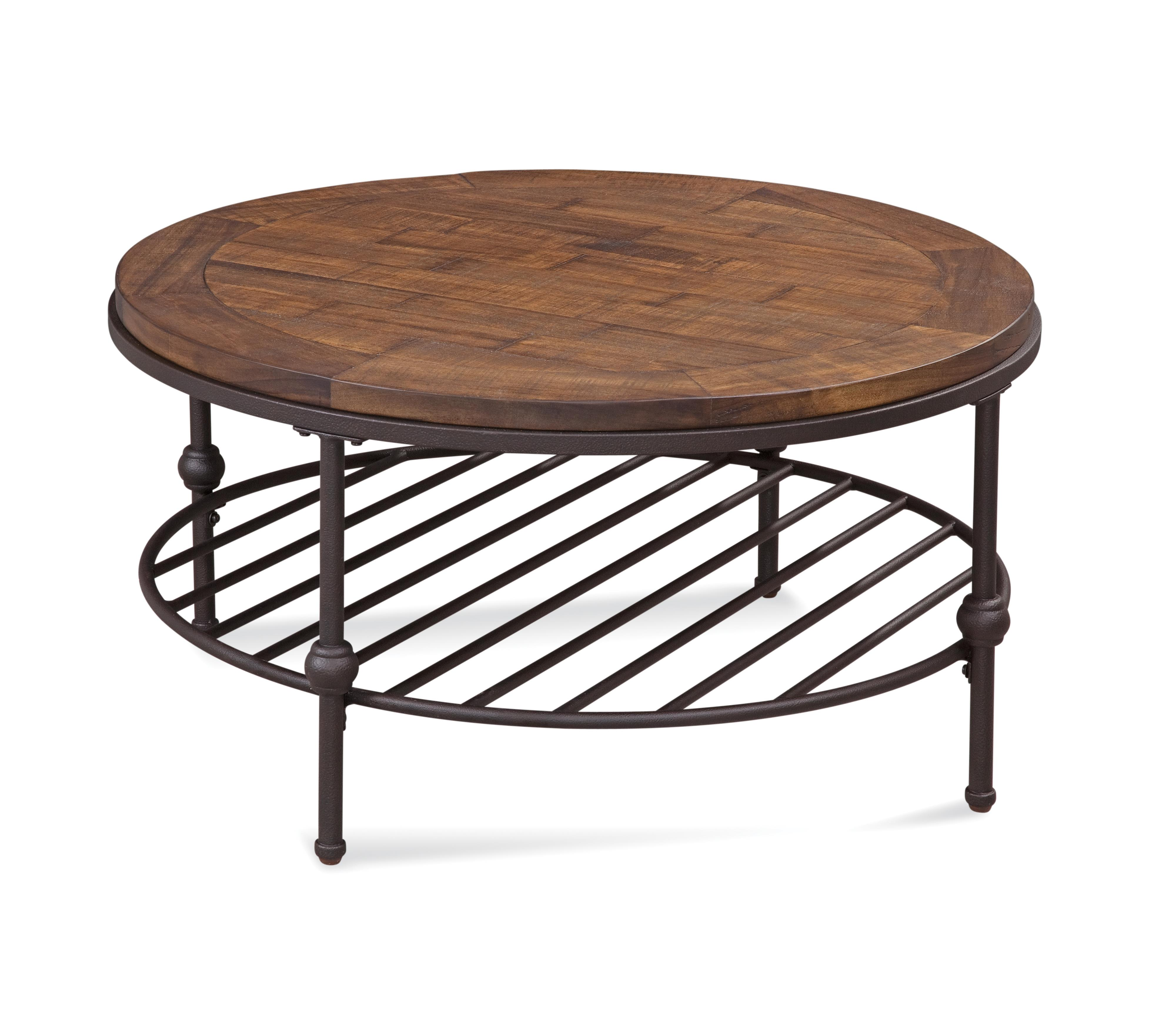 Belgian Luxe Emery Round Cocktail Table by Bassett Mirror at Alison Craig Home Furnishings