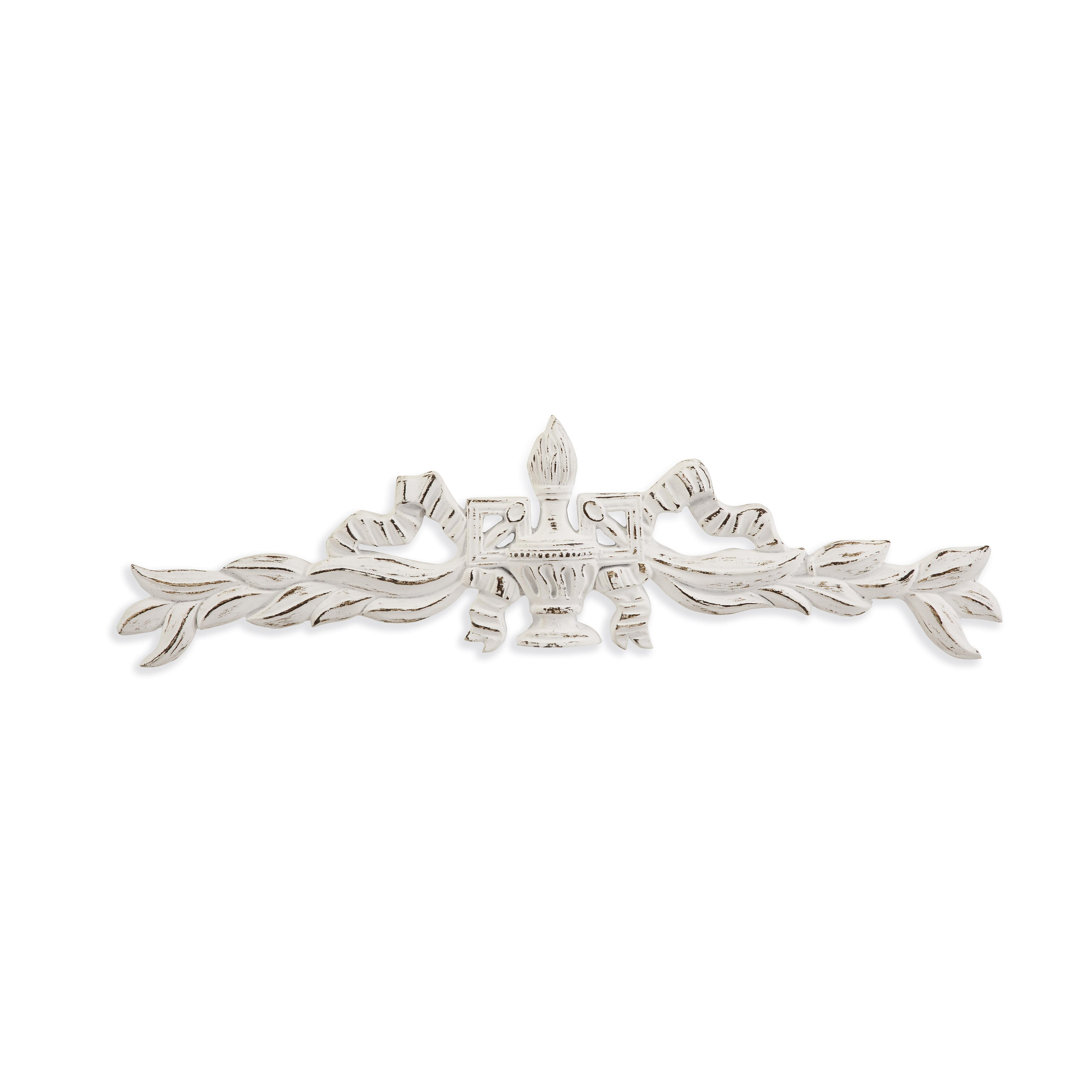 Belgian Luxe Weathered Urn Wall Hanging by Bassett Mirror at Alison Craig Home Furnishings