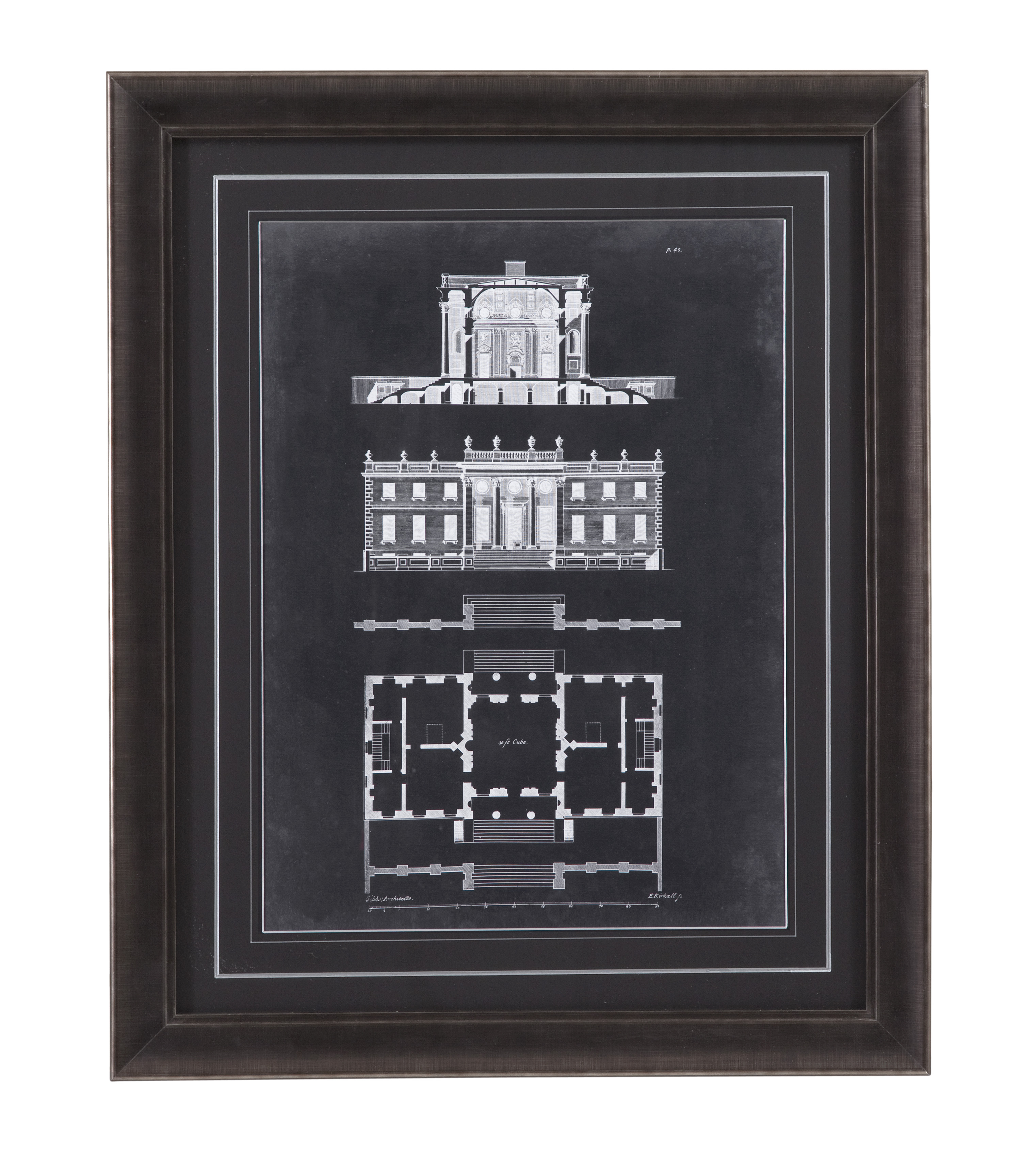 Belgian Luxe Graphic Building IV by Bassett Mirror at Alison Craig Home Furnishings