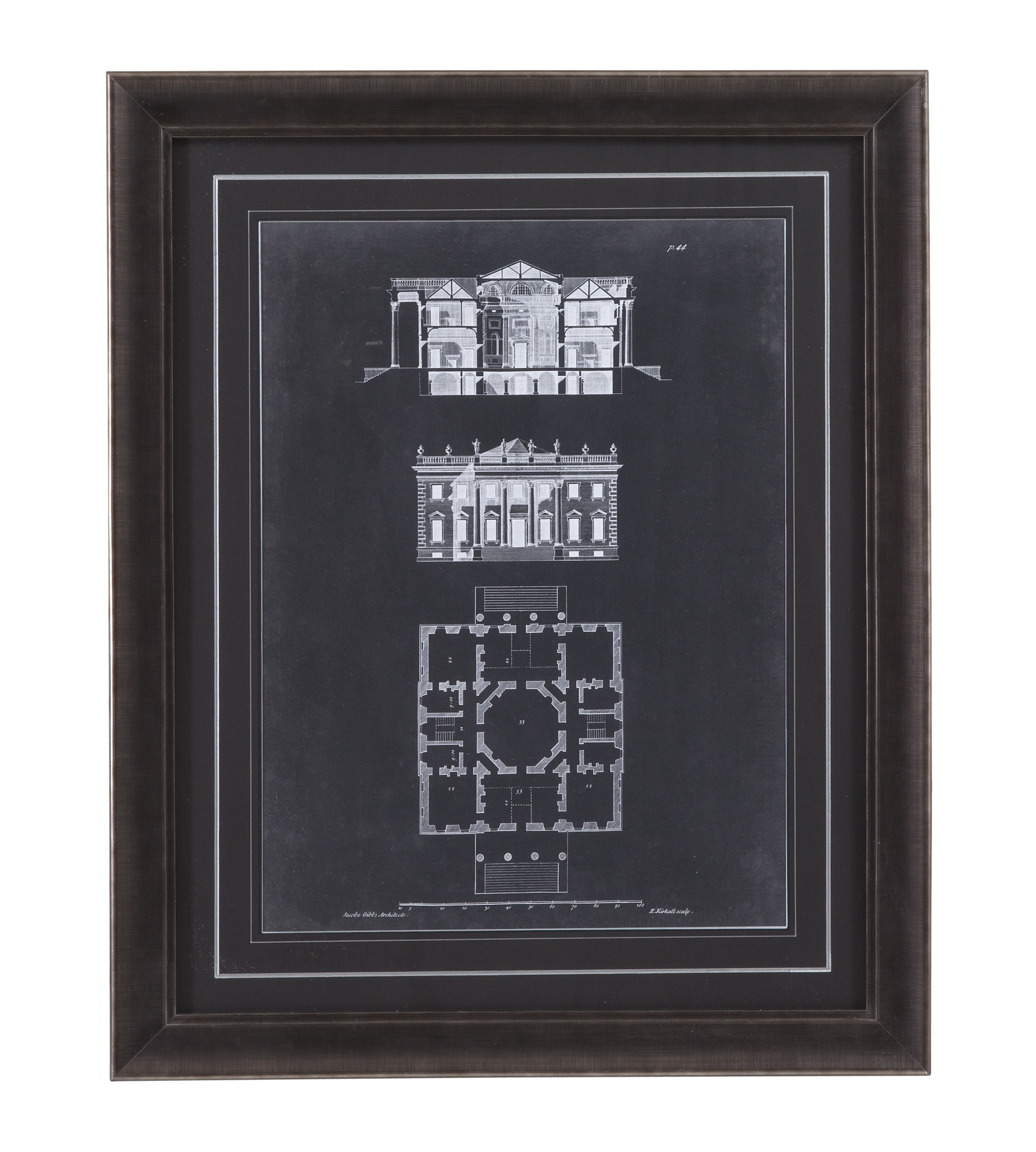 Belgian Luxe Graphic Building V by Bassett Mirror at Alison Craig Home Furnishings