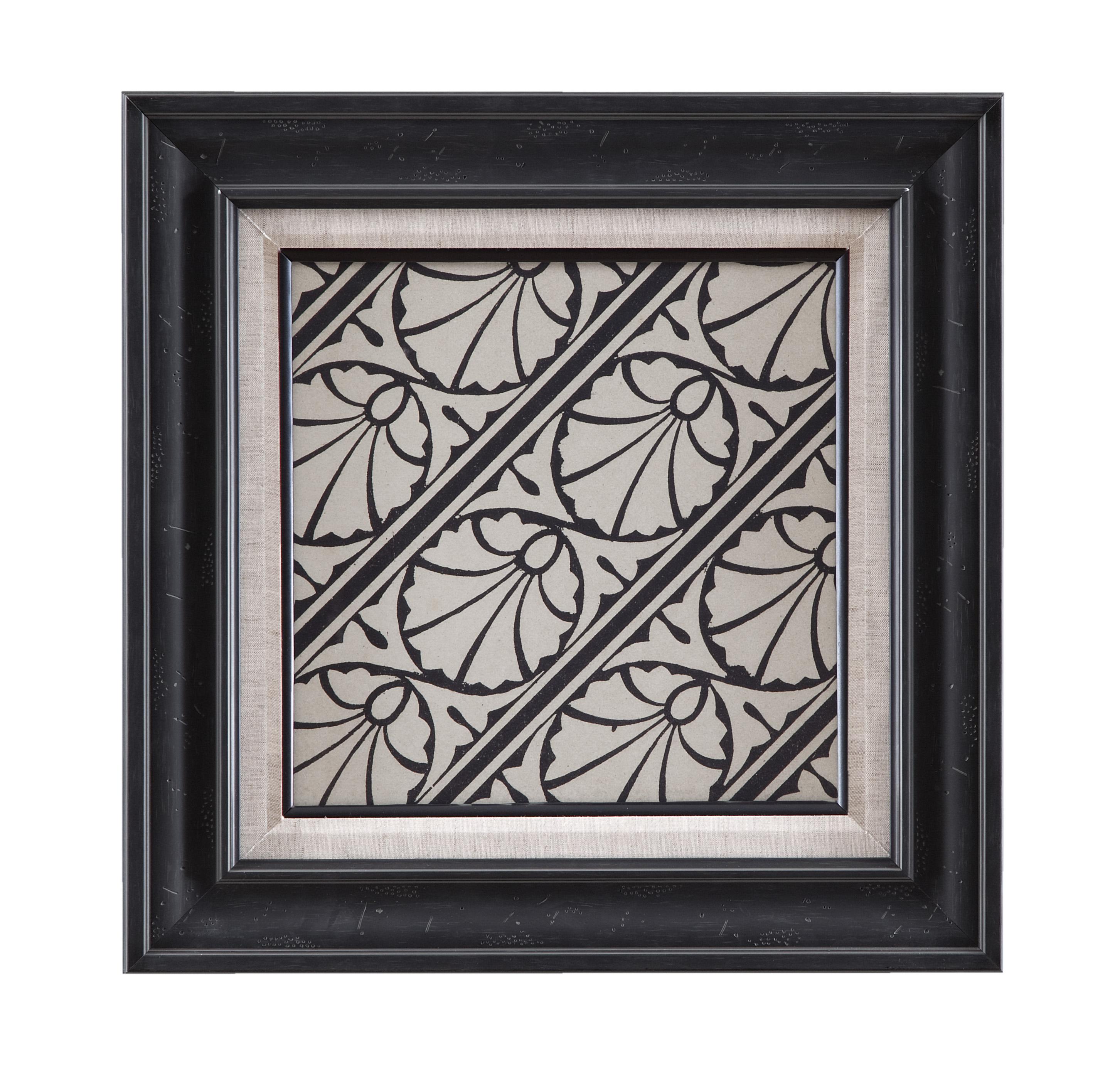 Belgian Luxe Ornamental Tile Motif VI by Bassett Mirror at Alison Craig Home Furnishings