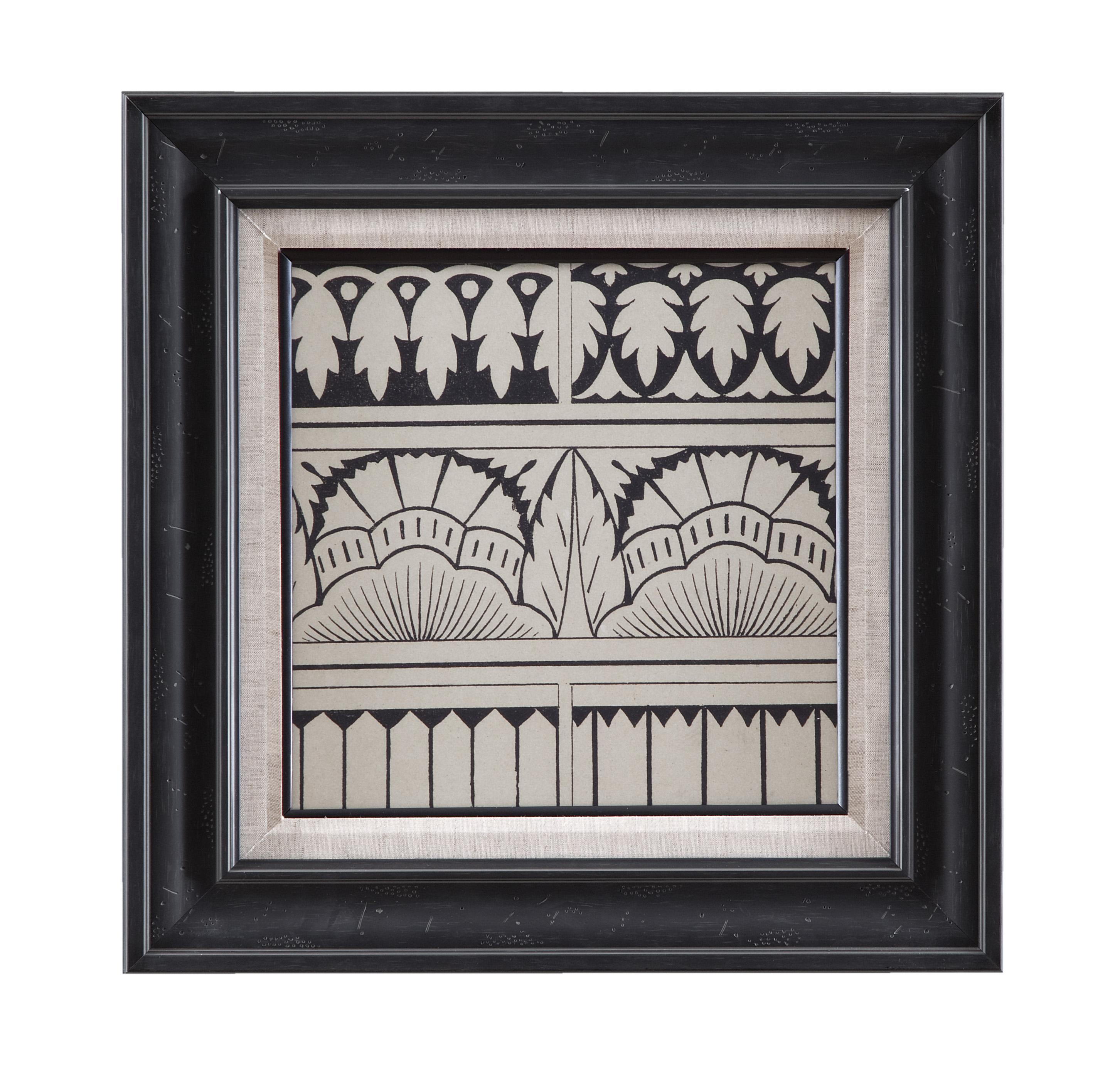 Belgian Luxe Ornamental Tile Motif VII by Bassett Mirror at Alison Craig Home Furnishings