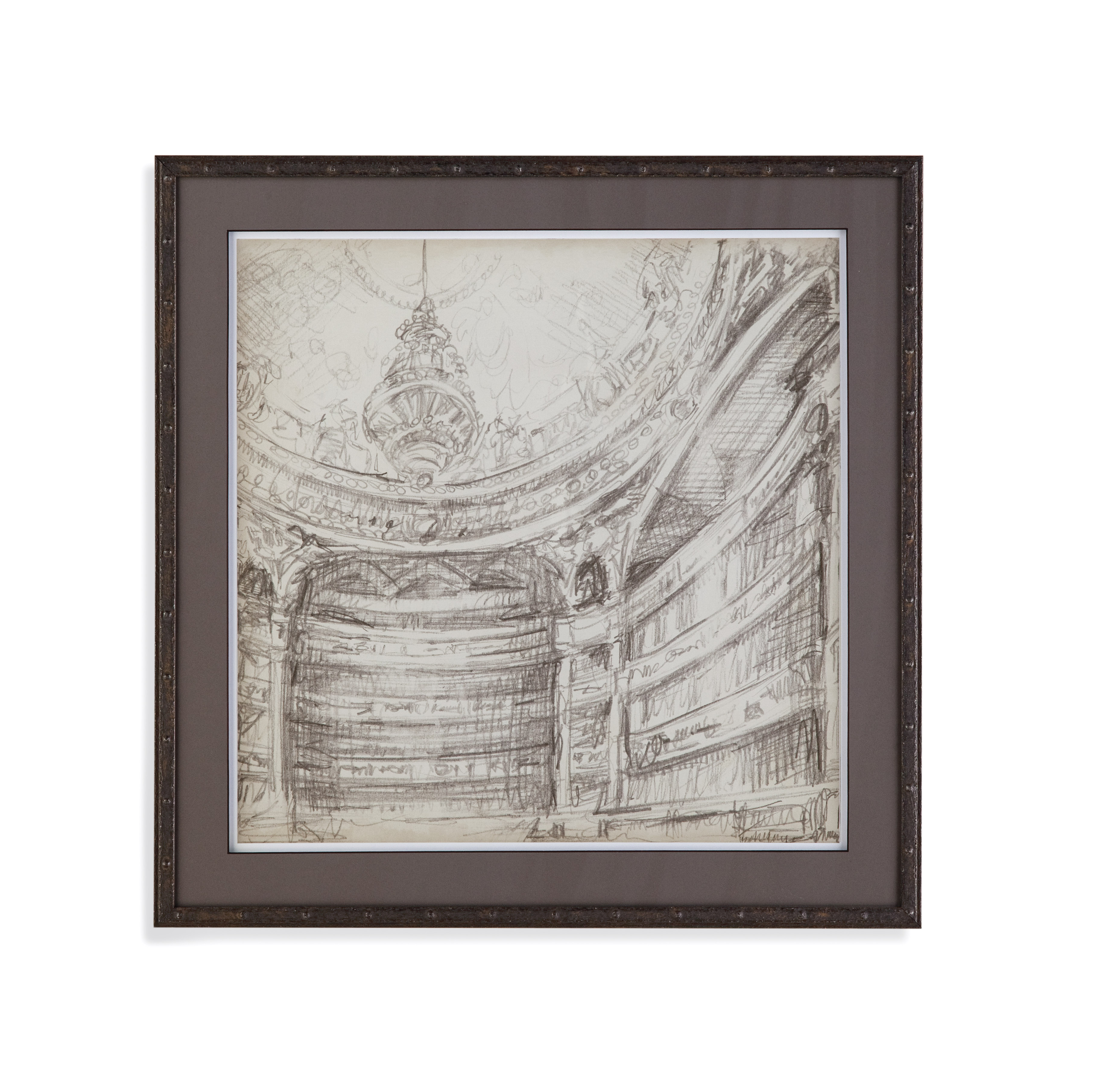 Belgian Luxe Interior Architectual Study II by Bassett Mirror at Alison Craig Home Furnishings