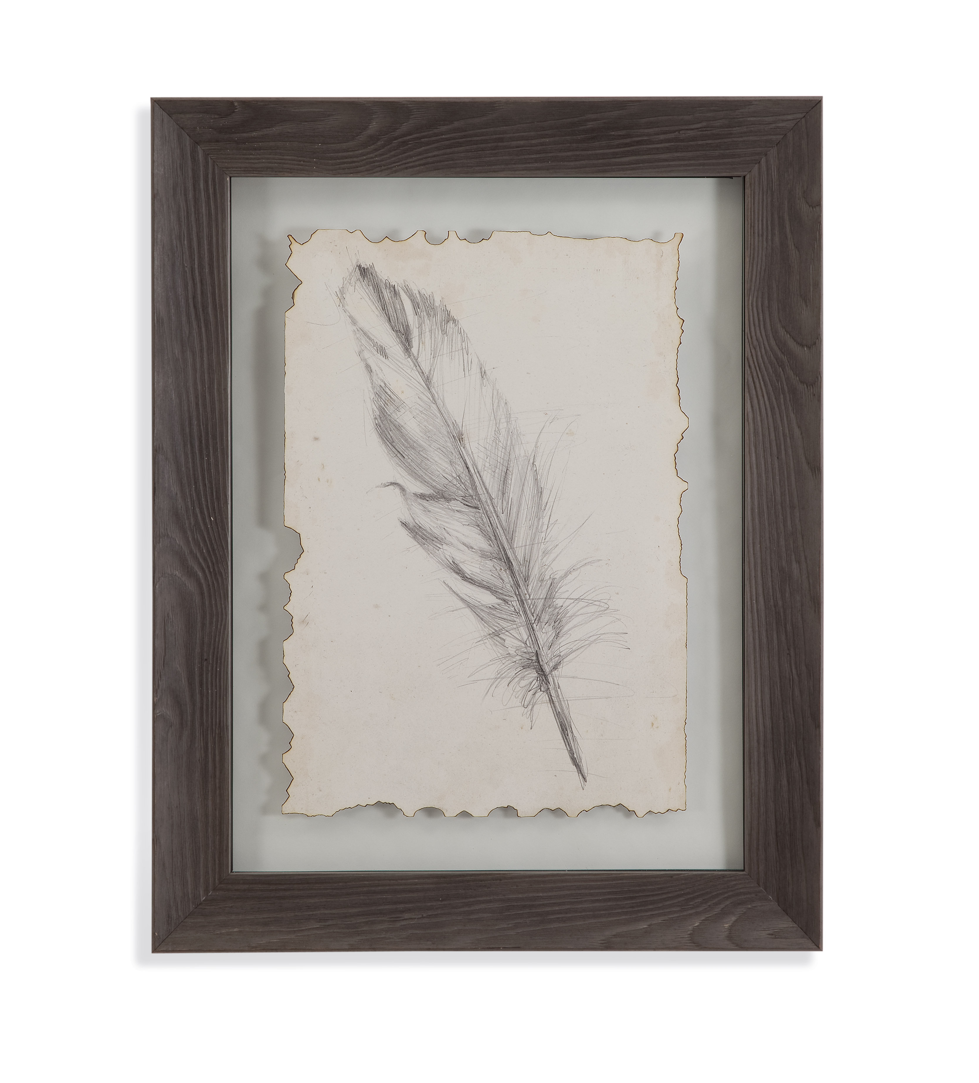 Belgian Luxe Feather Sketch III by Bassett Mirror at Alison Craig Home Furnishings