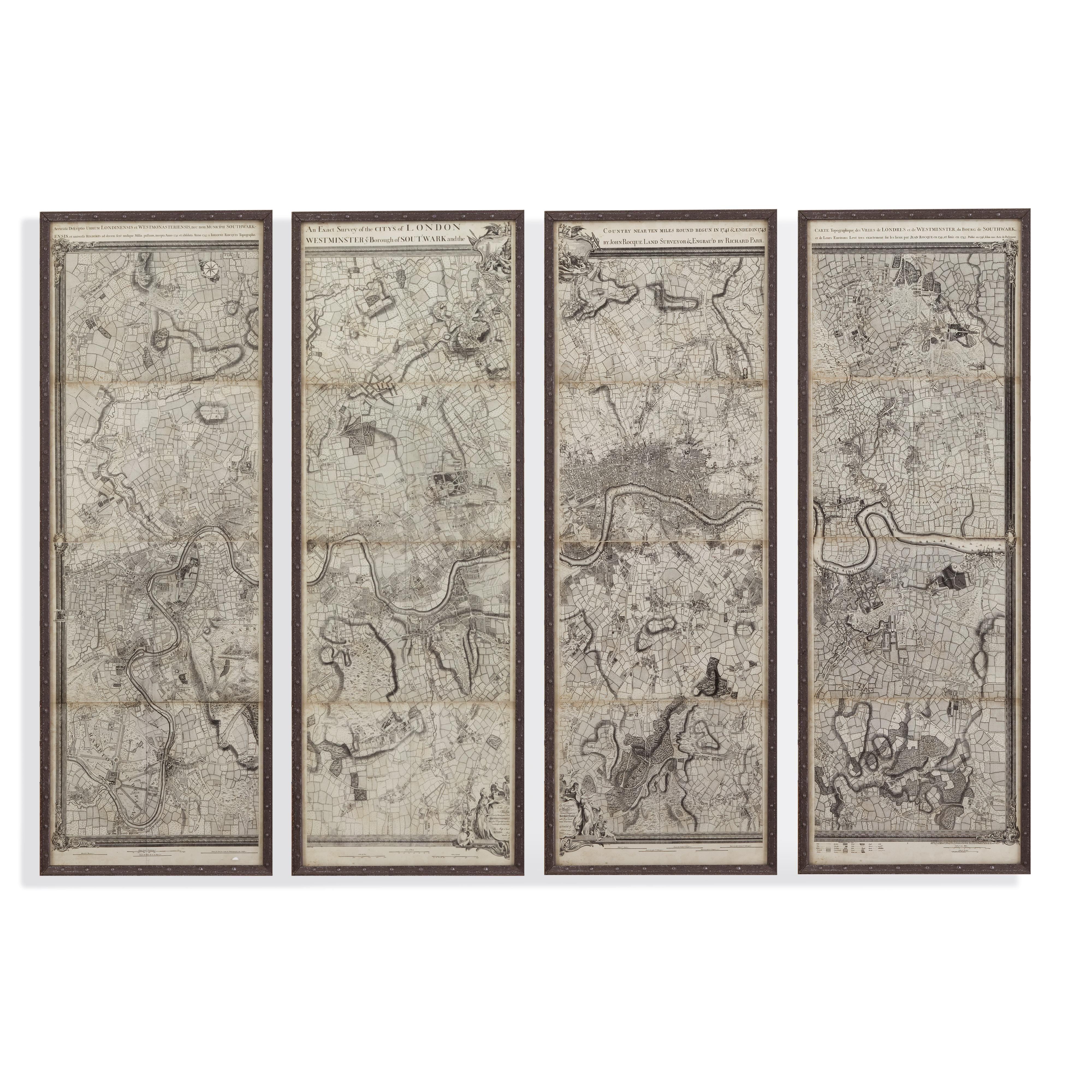 Belgian Luxe Map of London Panels by Bassett Mirror at Alison Craig Home Furnishings