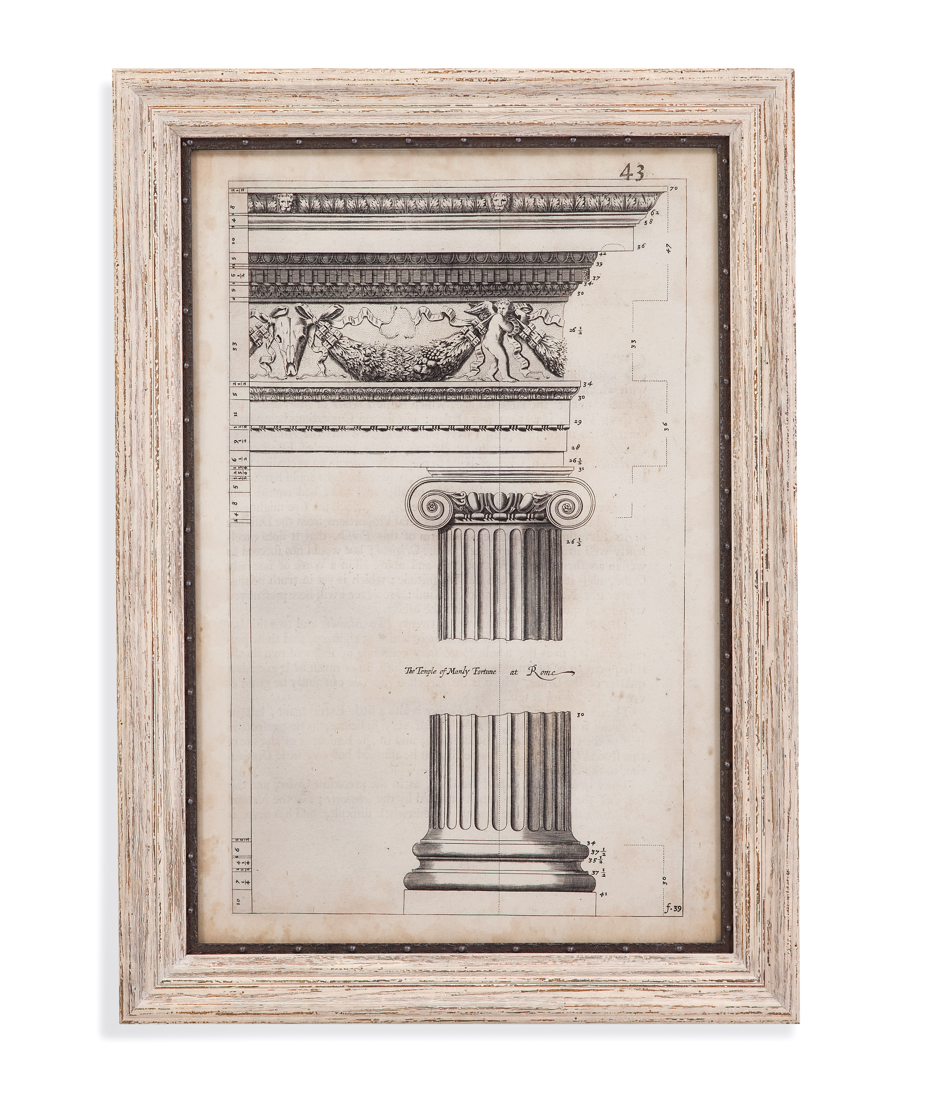 Belgian Luxe Ancient Architecture II by Bassett Mirror at Alison Craig Home Furnishings