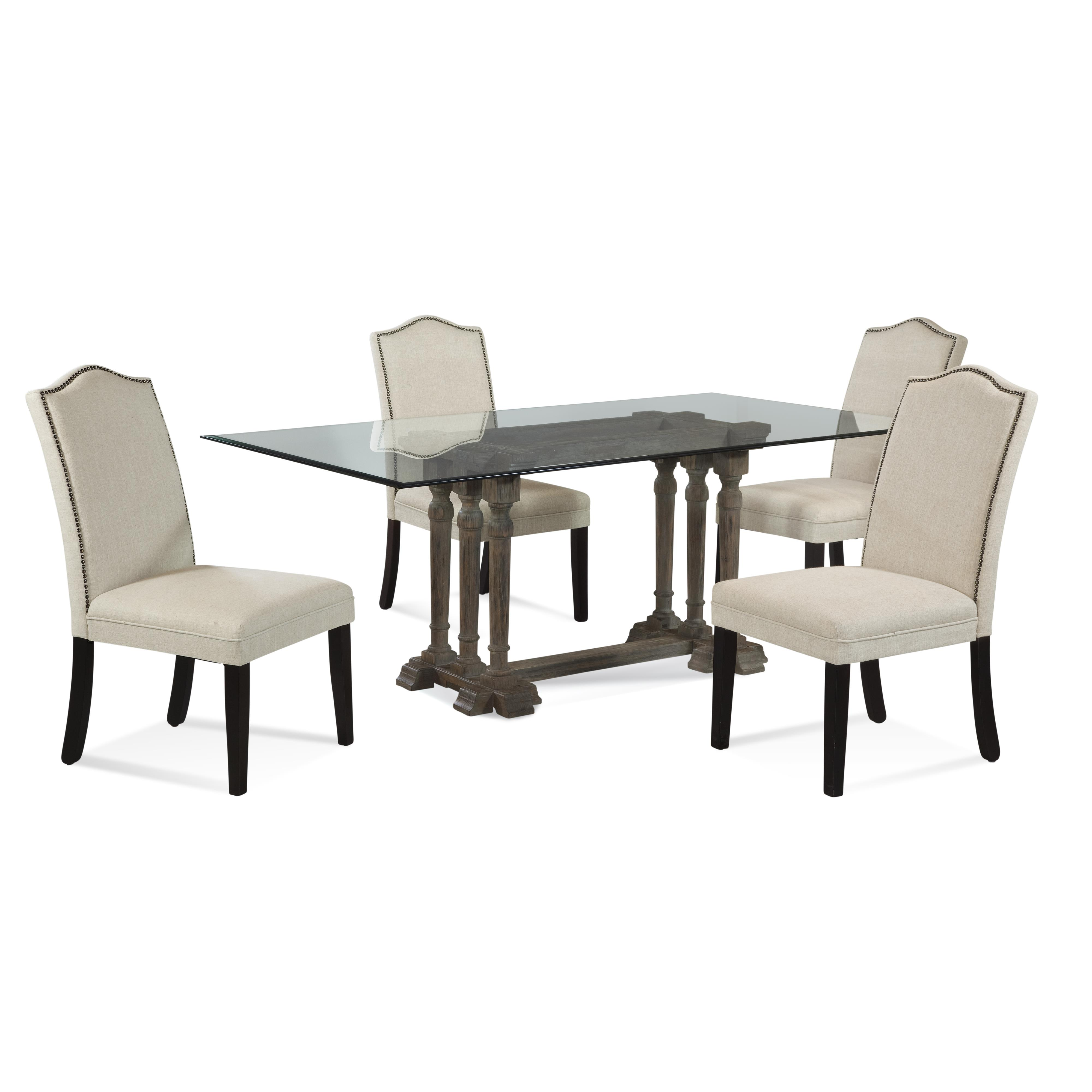 Belgian Luxe Pemberton Casual Dining Set by Bassett Mirror at Alison Craig Home Furnishings